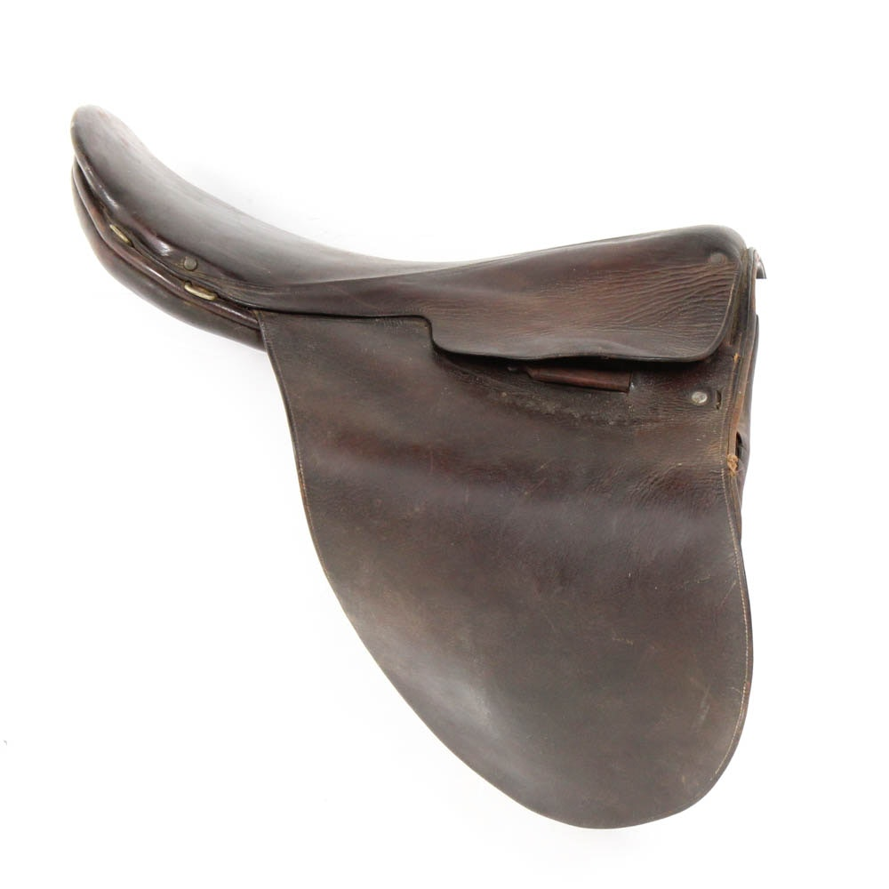 Collegiate English Leather Saddle and Bits