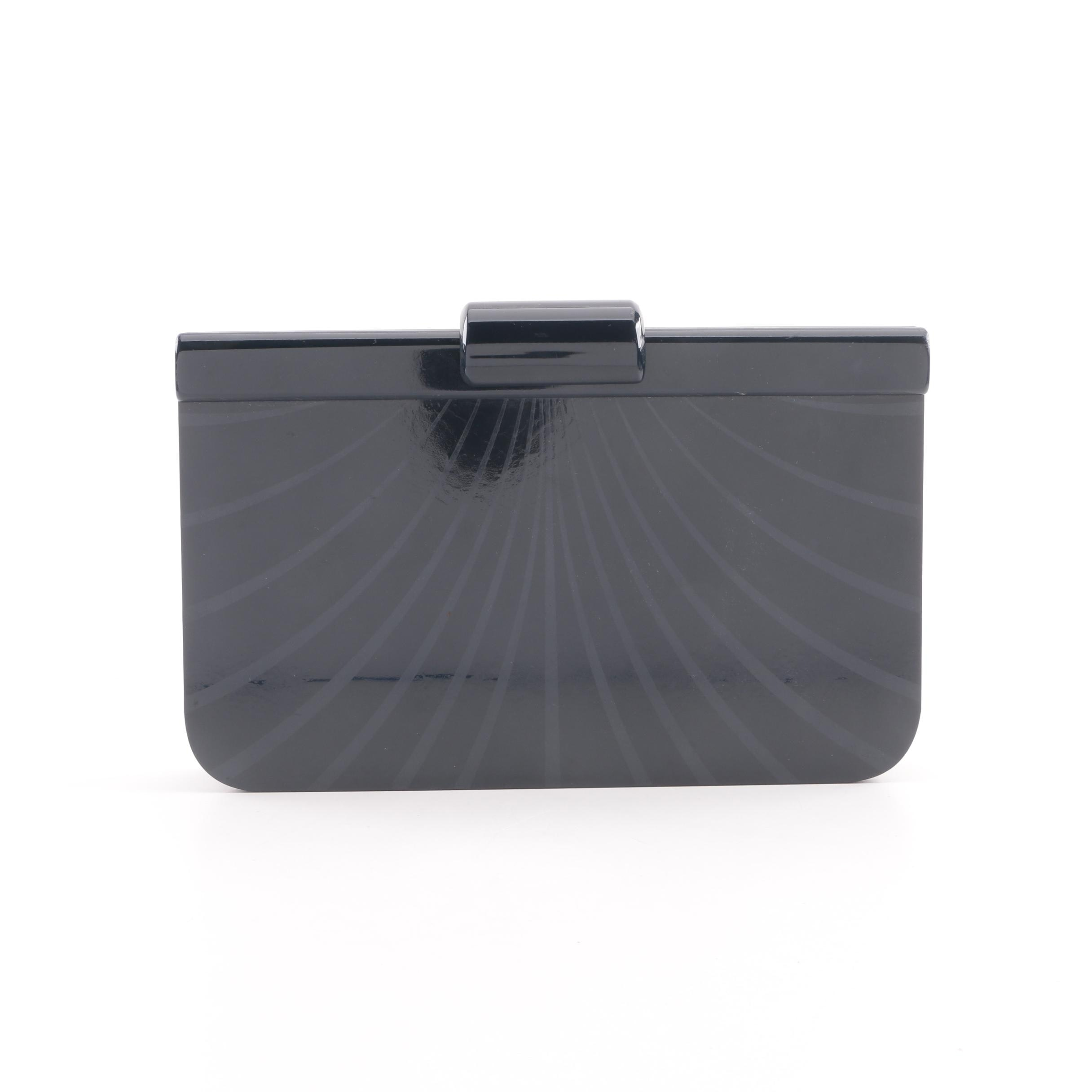 Vintage Raphael Salato Black Resin Clutch