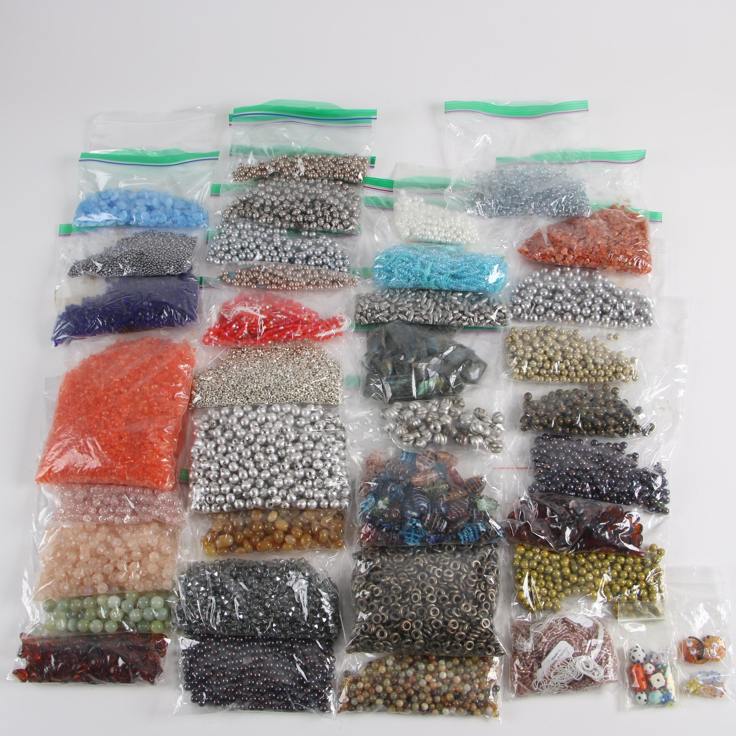 Glass, Metal and Other Jewelry Making Beads