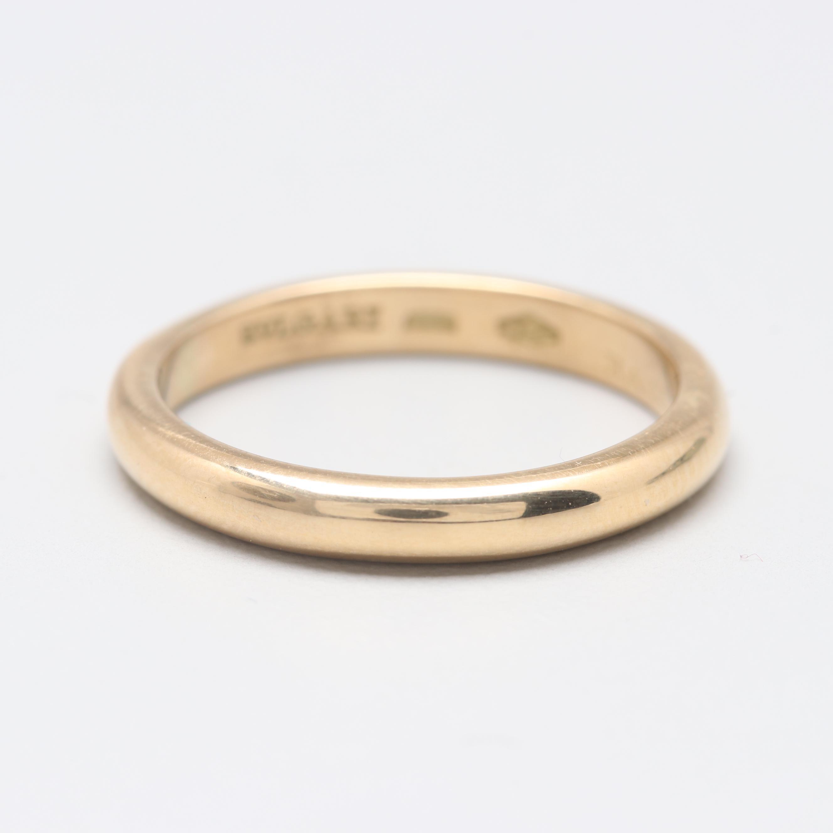Bulgari 18K Yellow Gold Ring Band