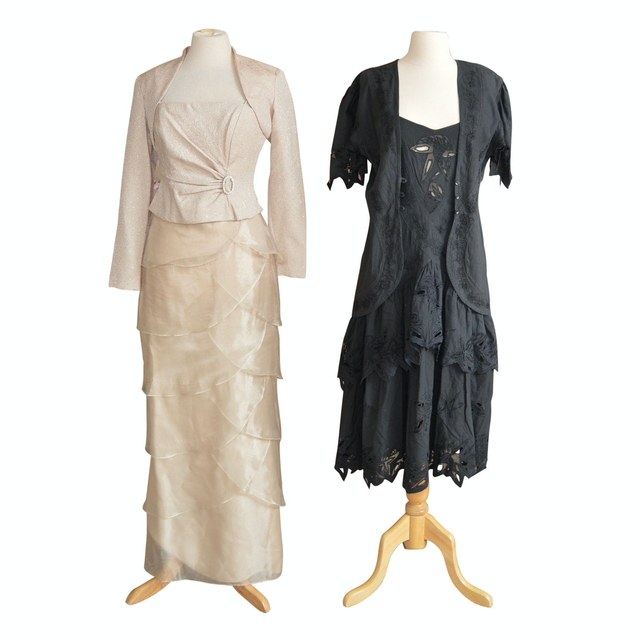 Women's Vintage Dresses with Jackets
