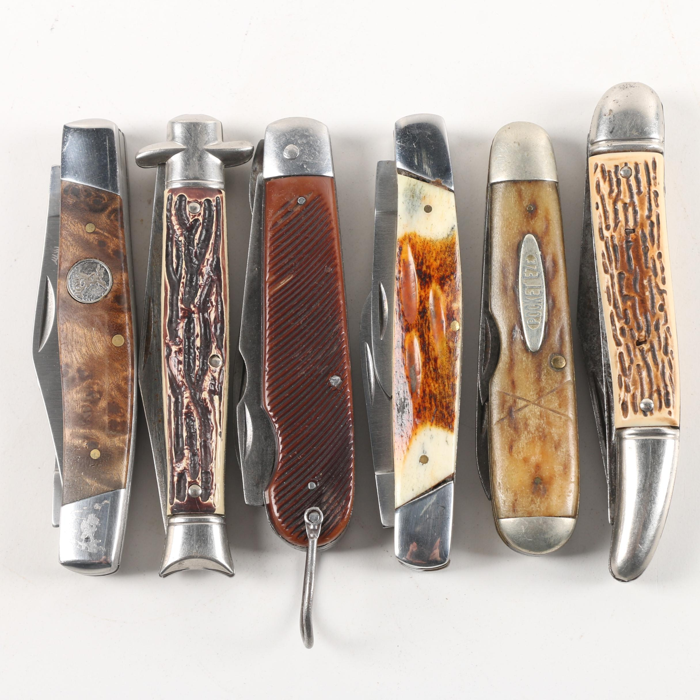 Pocket Eze, Elk Ridge And Other Vintage Folding Pocket Knives