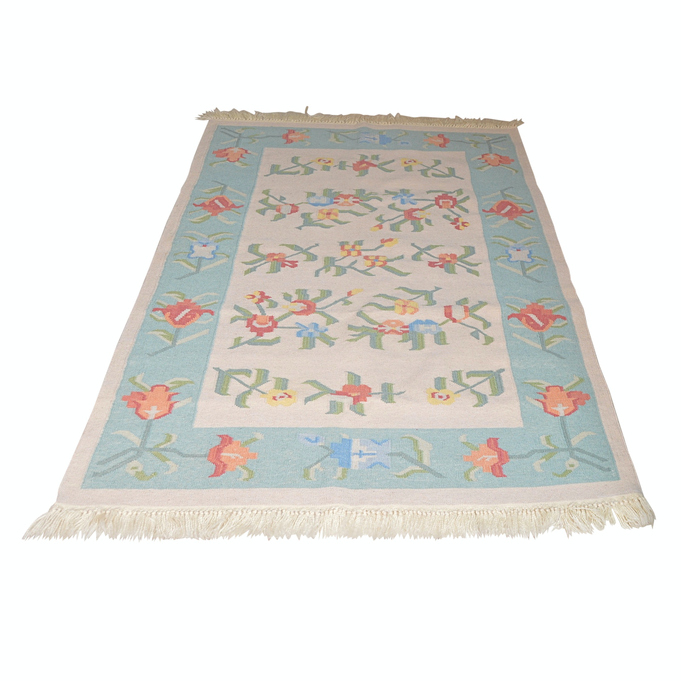 Handwoven Indian Wool Accent Rug