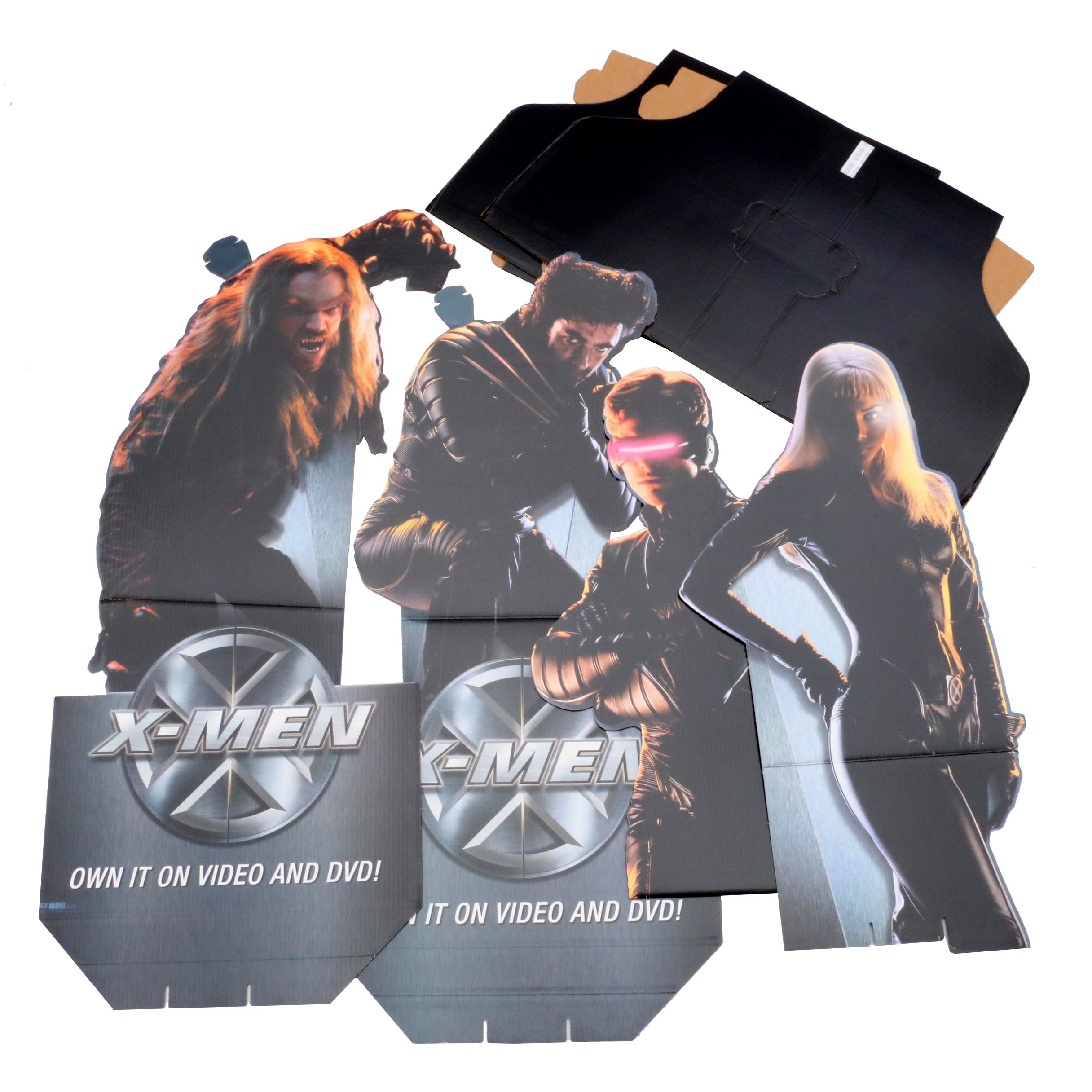 X-Men Cardboard Standees - Storm, Wolverine, Sabertooth, and Cyclops