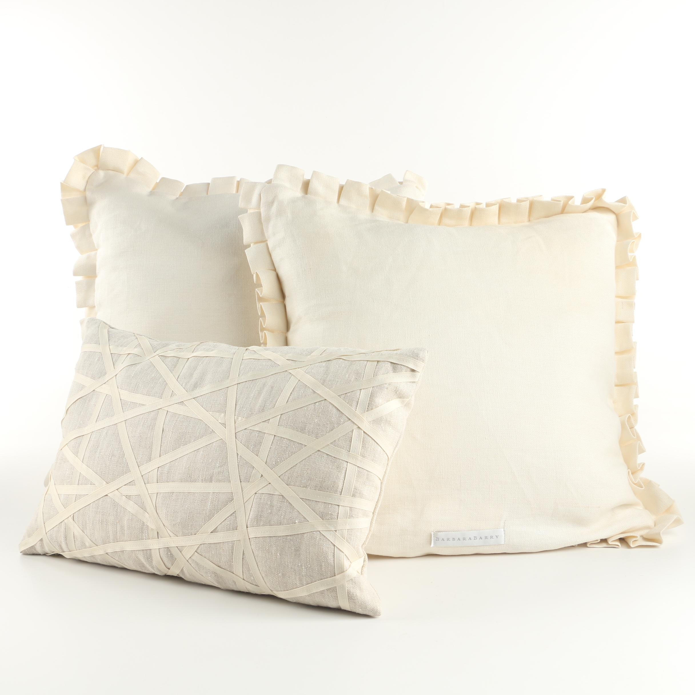 Barbara Barry Embellished Throw Pillows