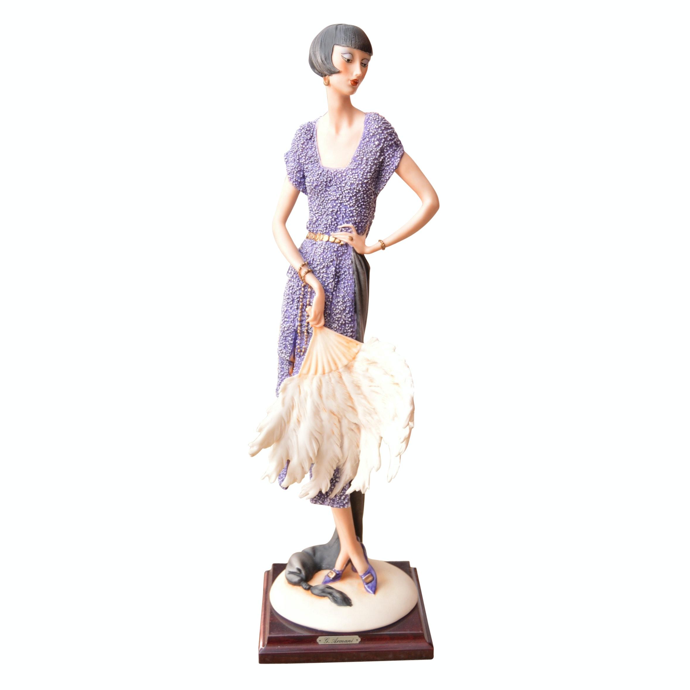 "Limited Edition Giuseppe Armani ""The Fan"" Porcelain Figurine"