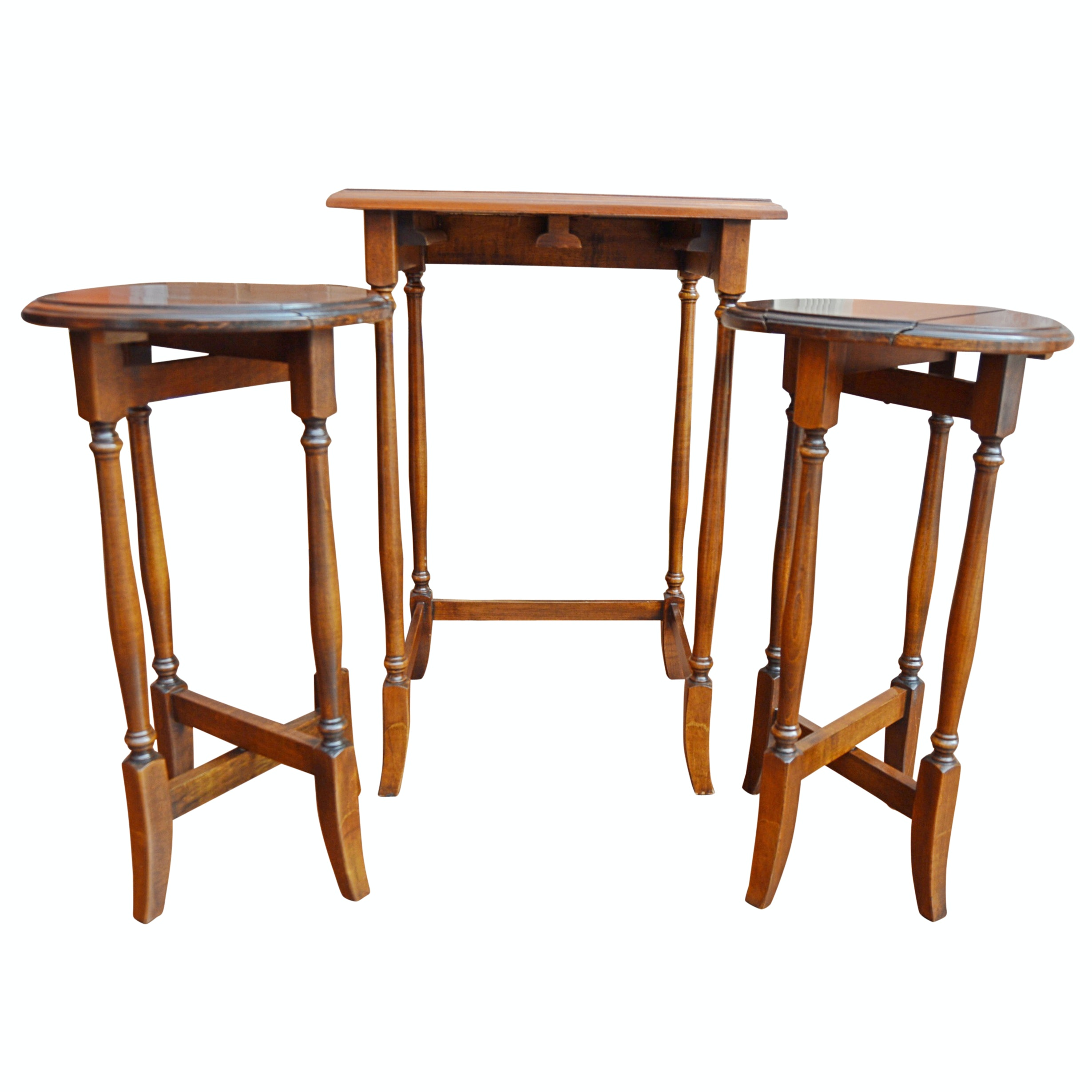 Traditional Mahogany Snack Table Set