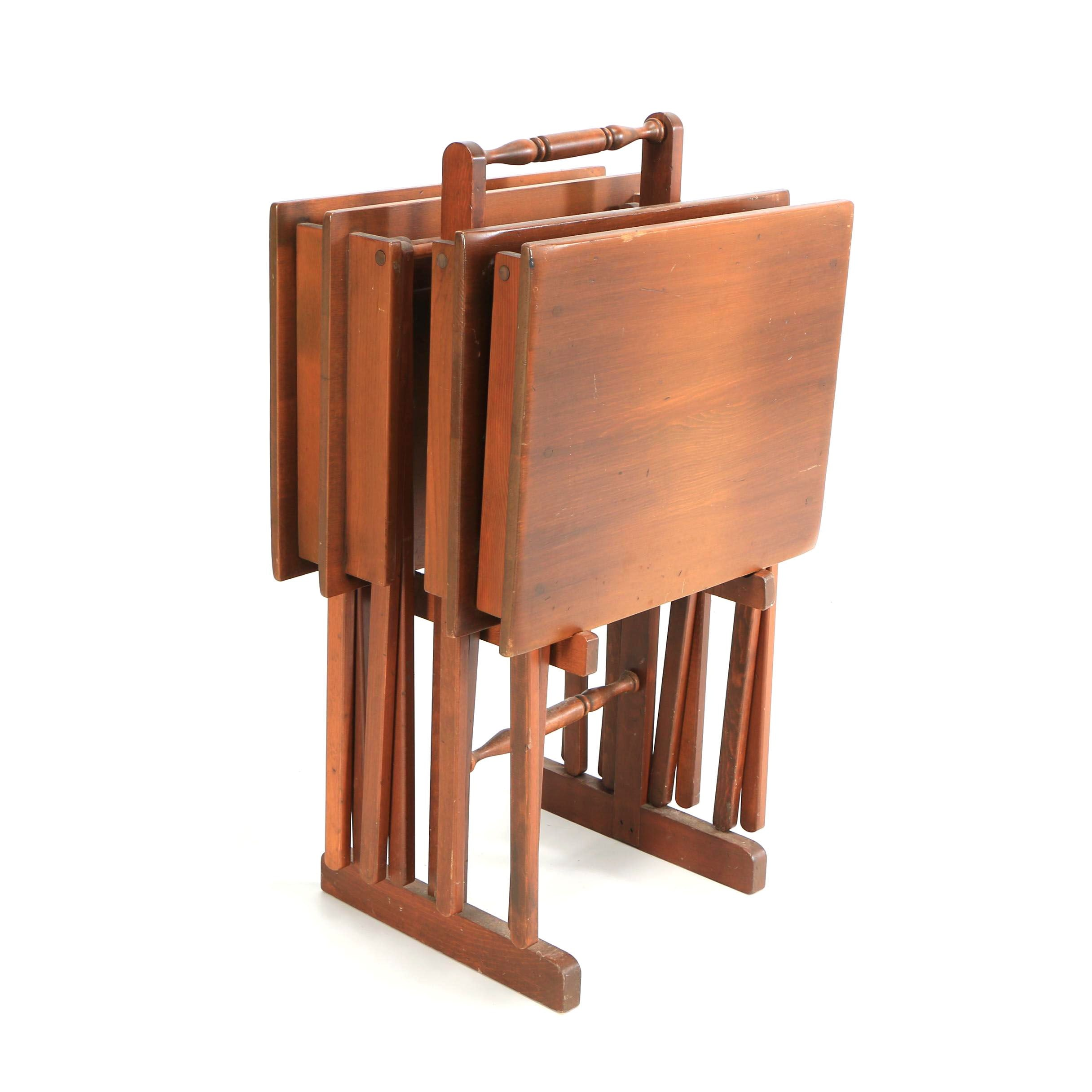 Wooden Tray Tables on Stand