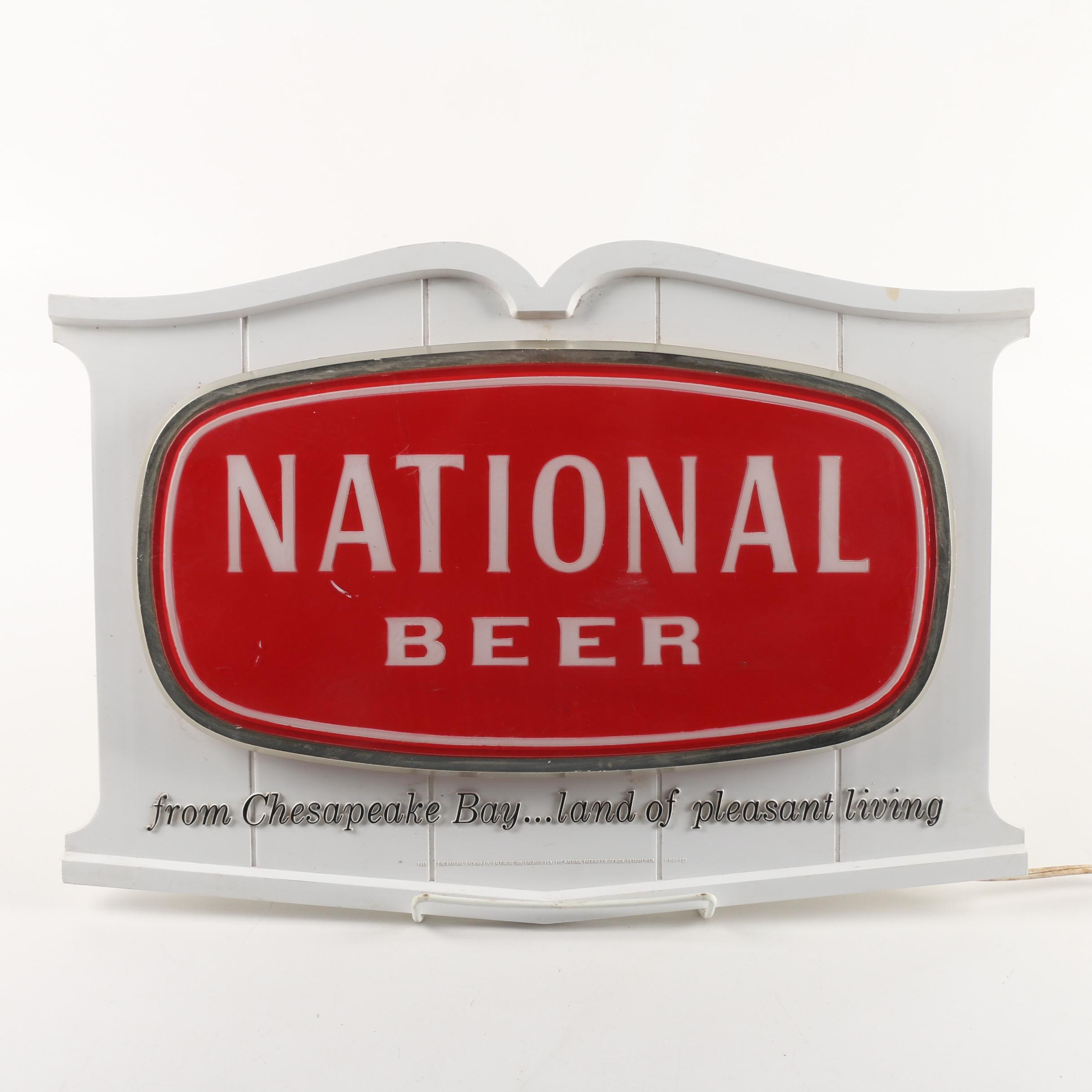 Early 1960s National Beer Illuminated Pub Sign
