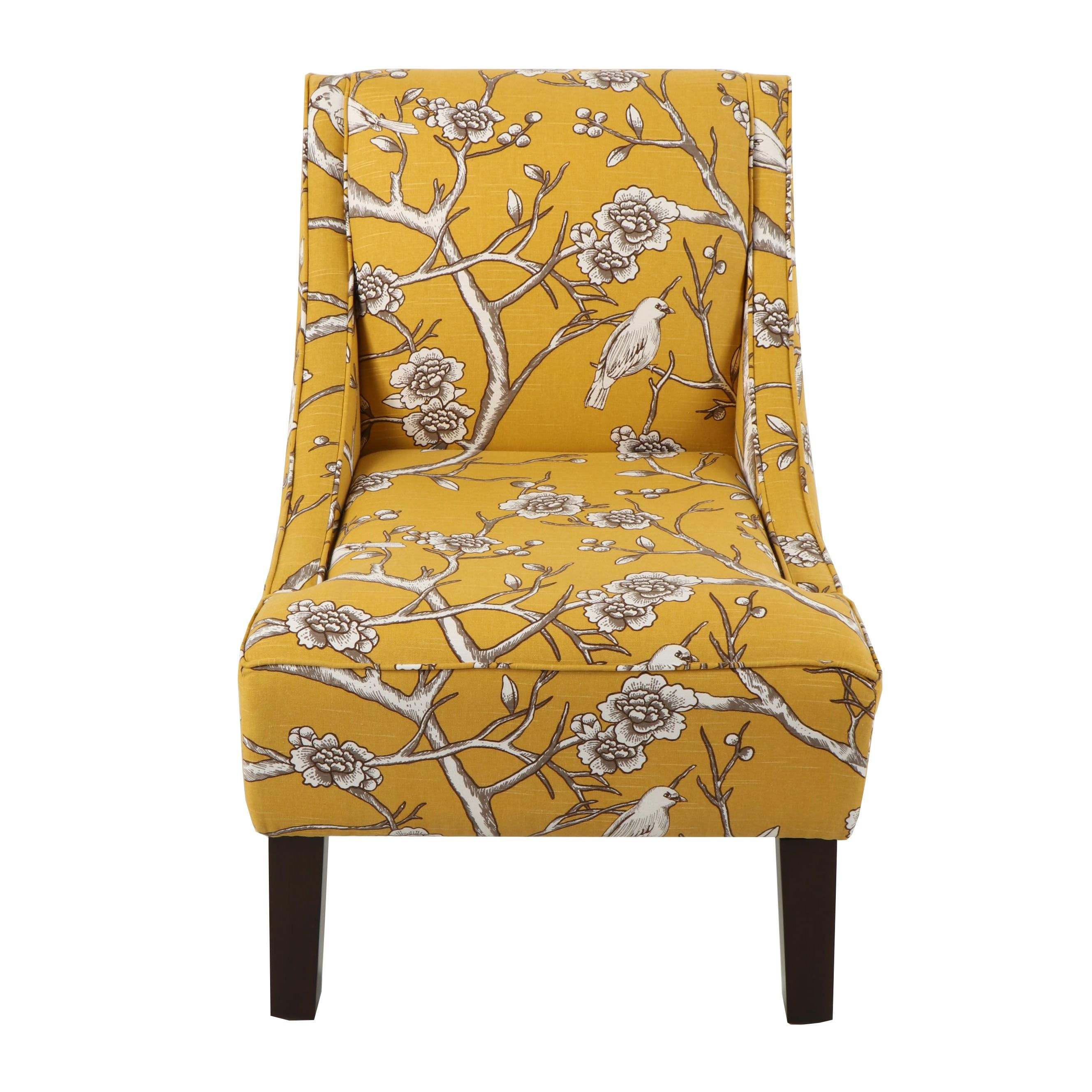 Contemporary Dark Yellow Upholstered Side Chair