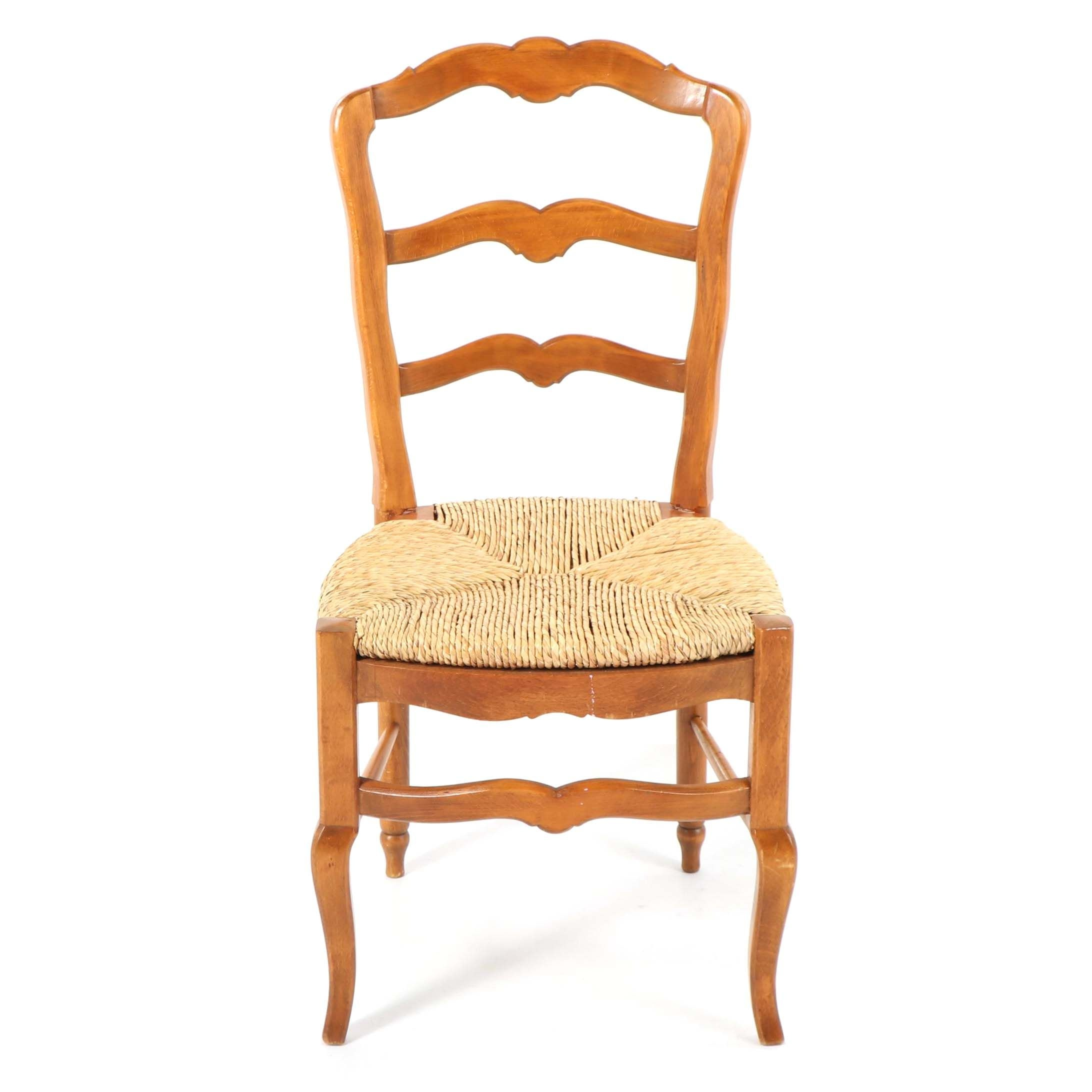 French Provincial Style Ladder Back Side Chair