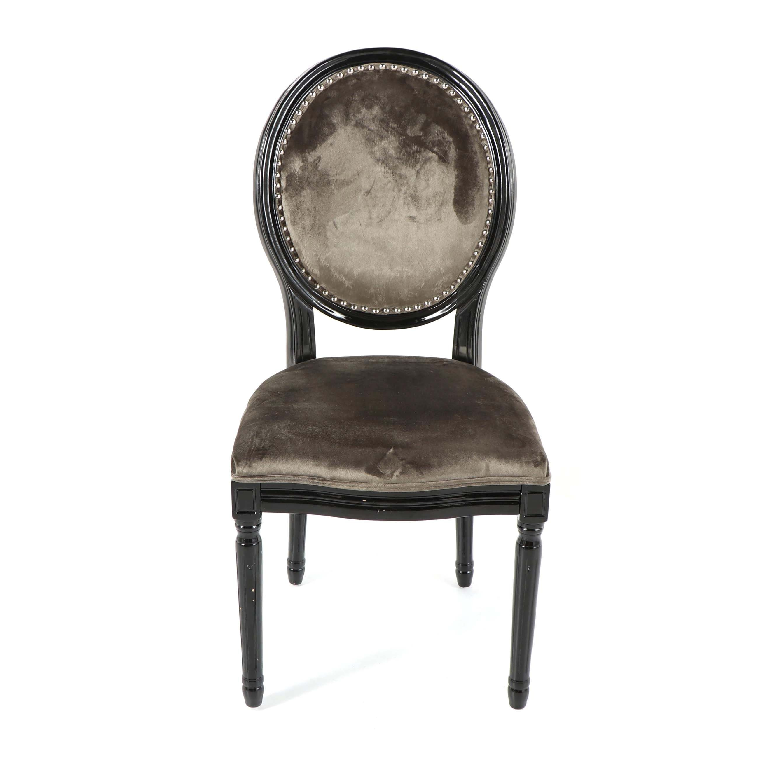 Contemporary Louis XVI Upholstered Side Chair by Noble House Home