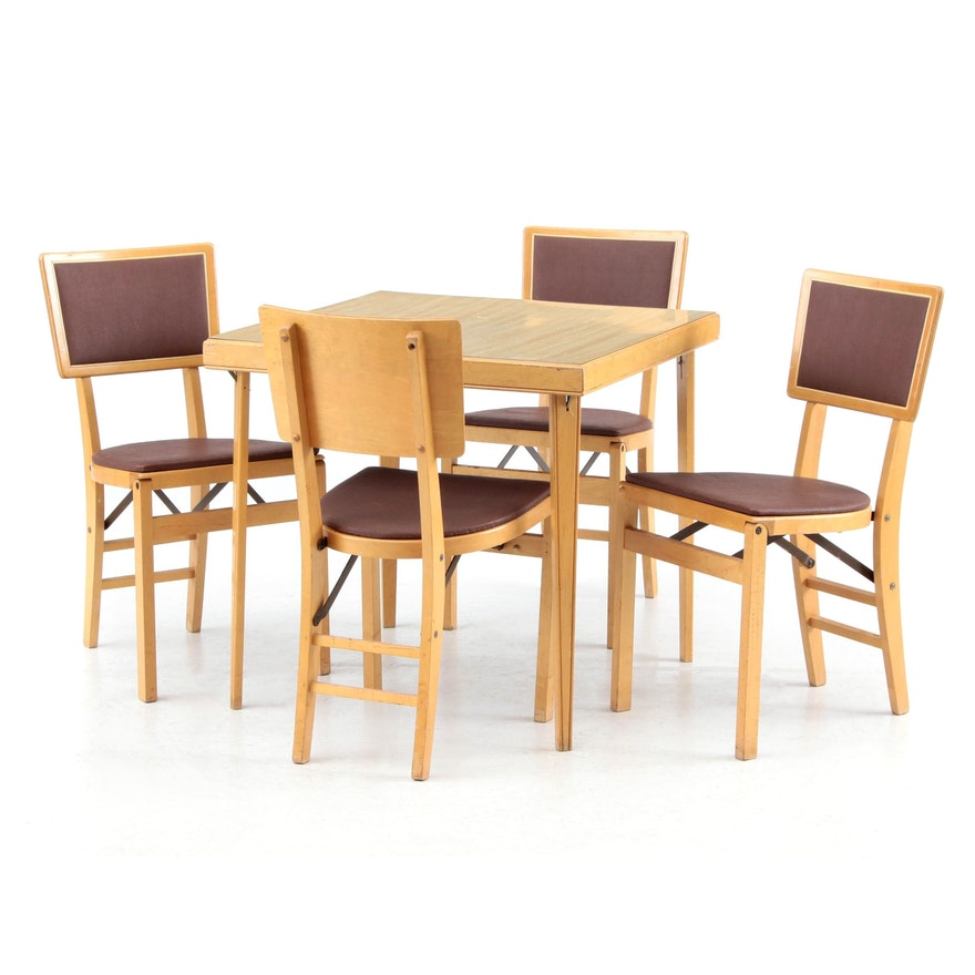 Stakmore Folding Table And Chairs Ebth