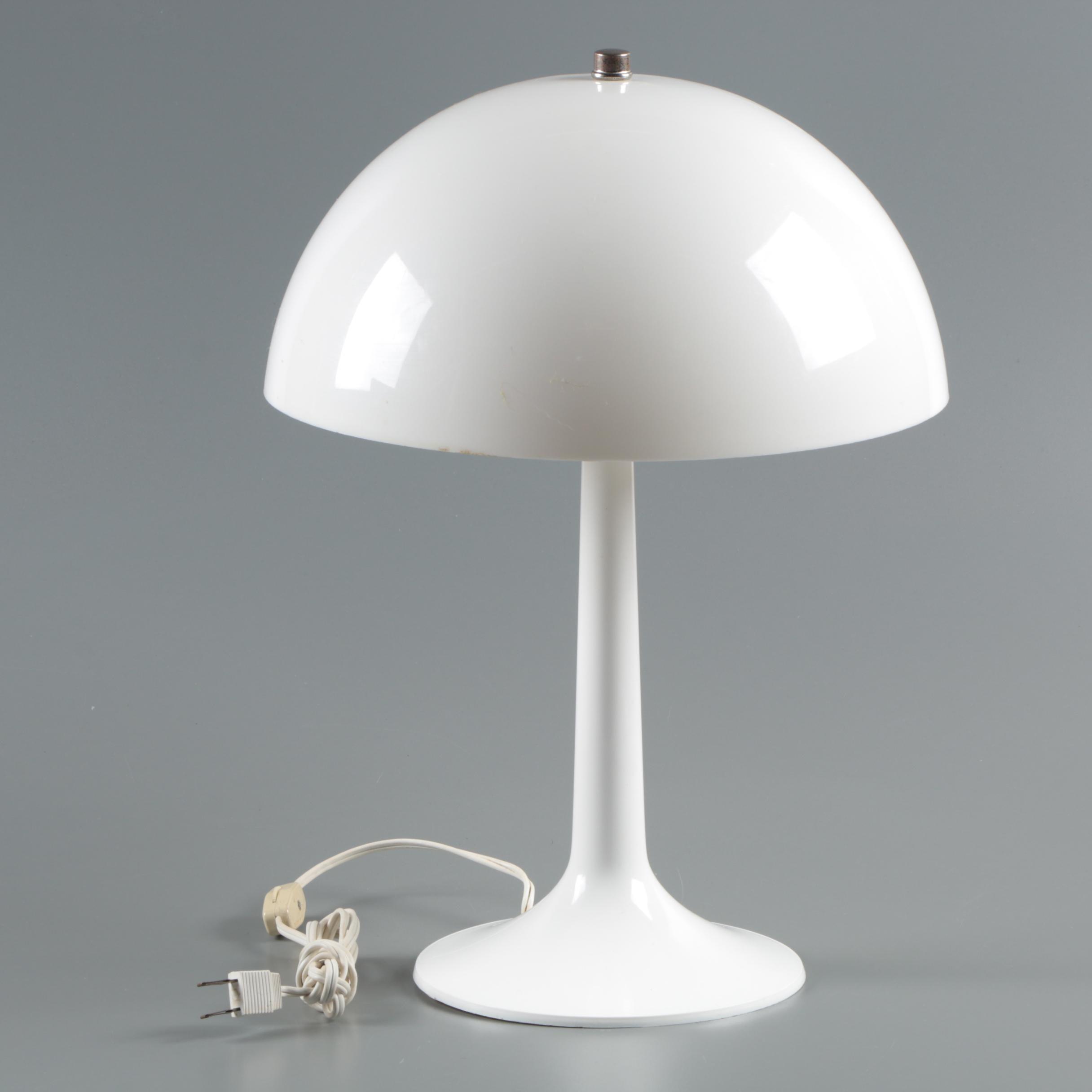 Mid Century Style Plastic Table Lamp