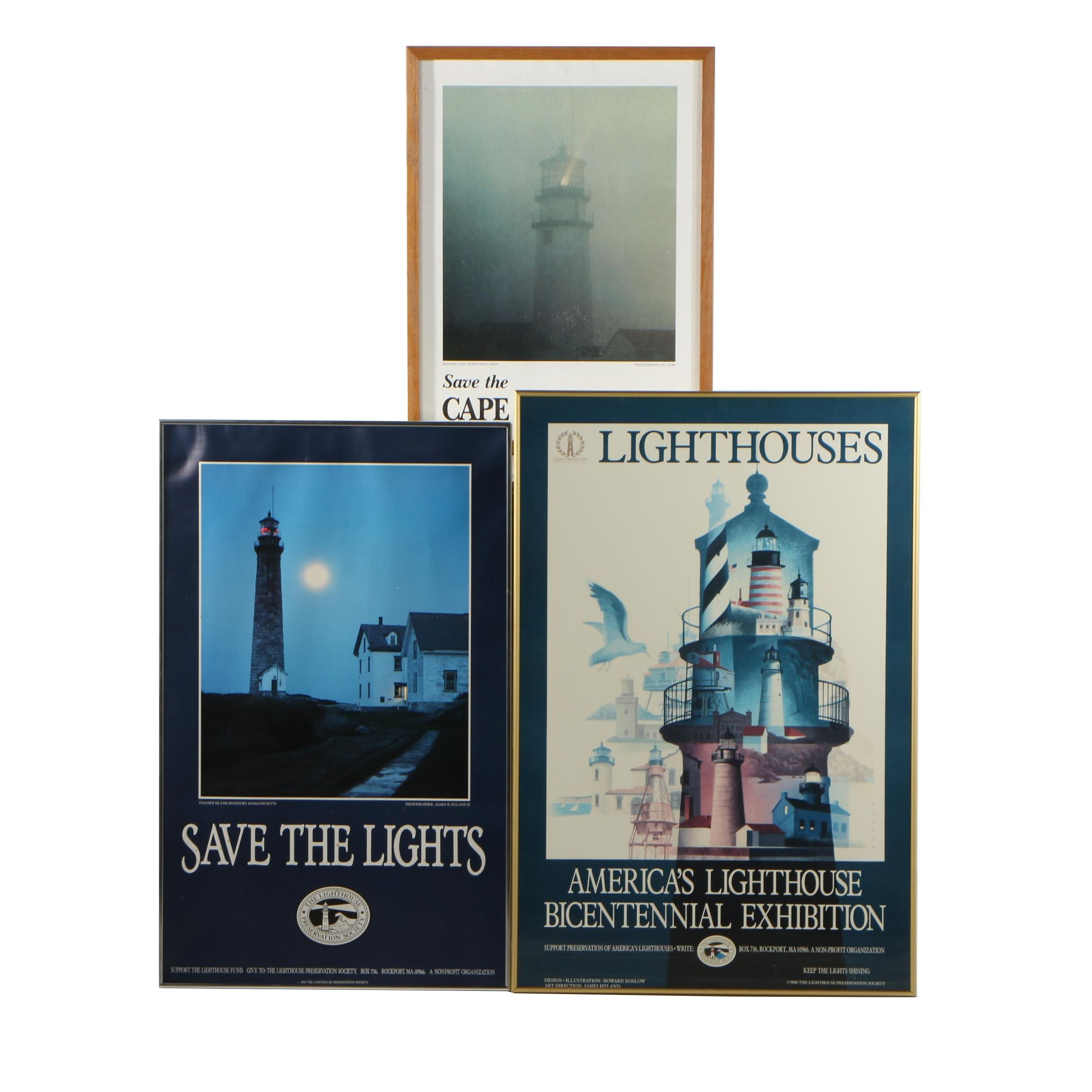Grouping of Lighthouse Offset Lithographs