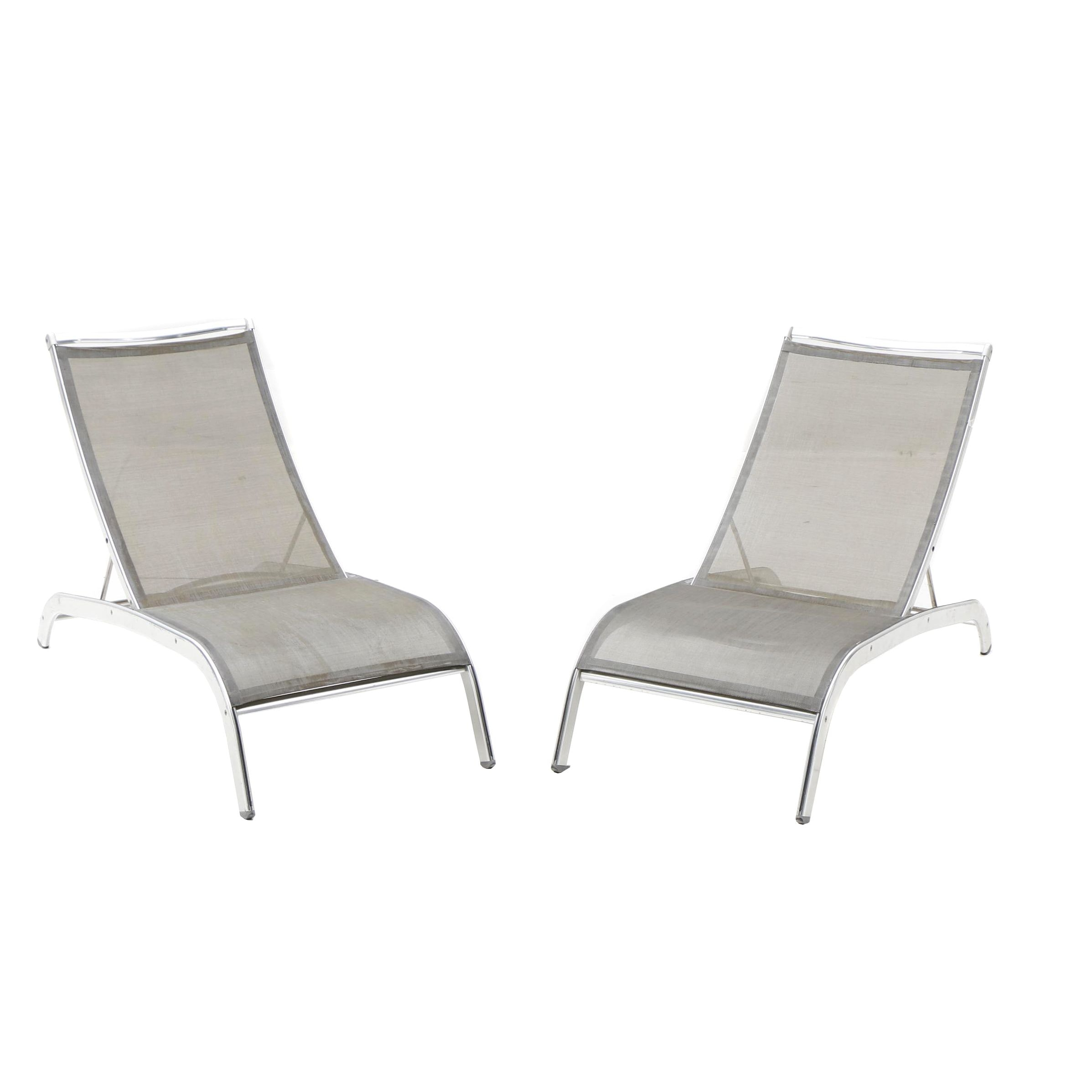Metal Lounge Chairs by Indecasa