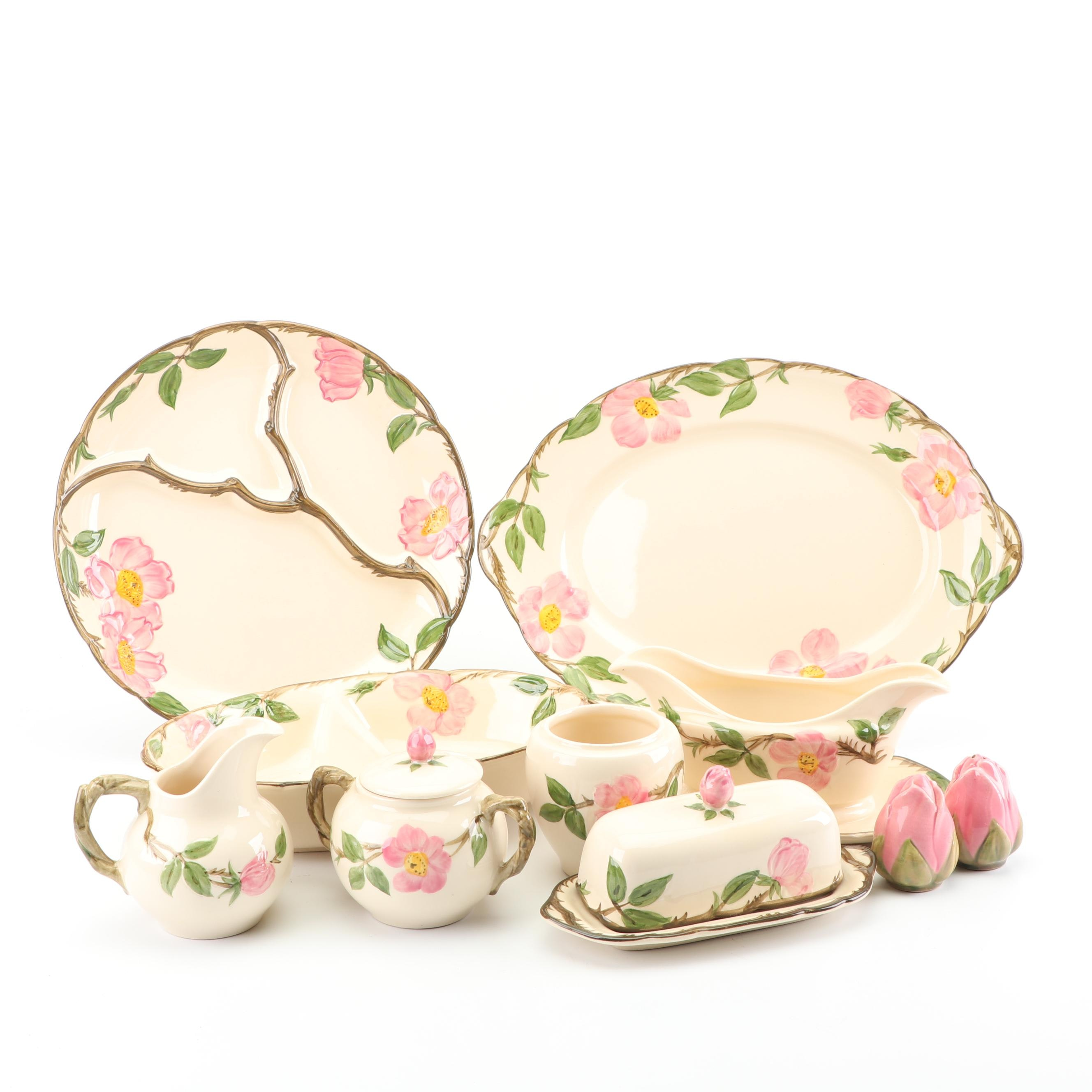 "Vintage Franciscan ""Desert Rose"" Ceramic Serving Pieces"