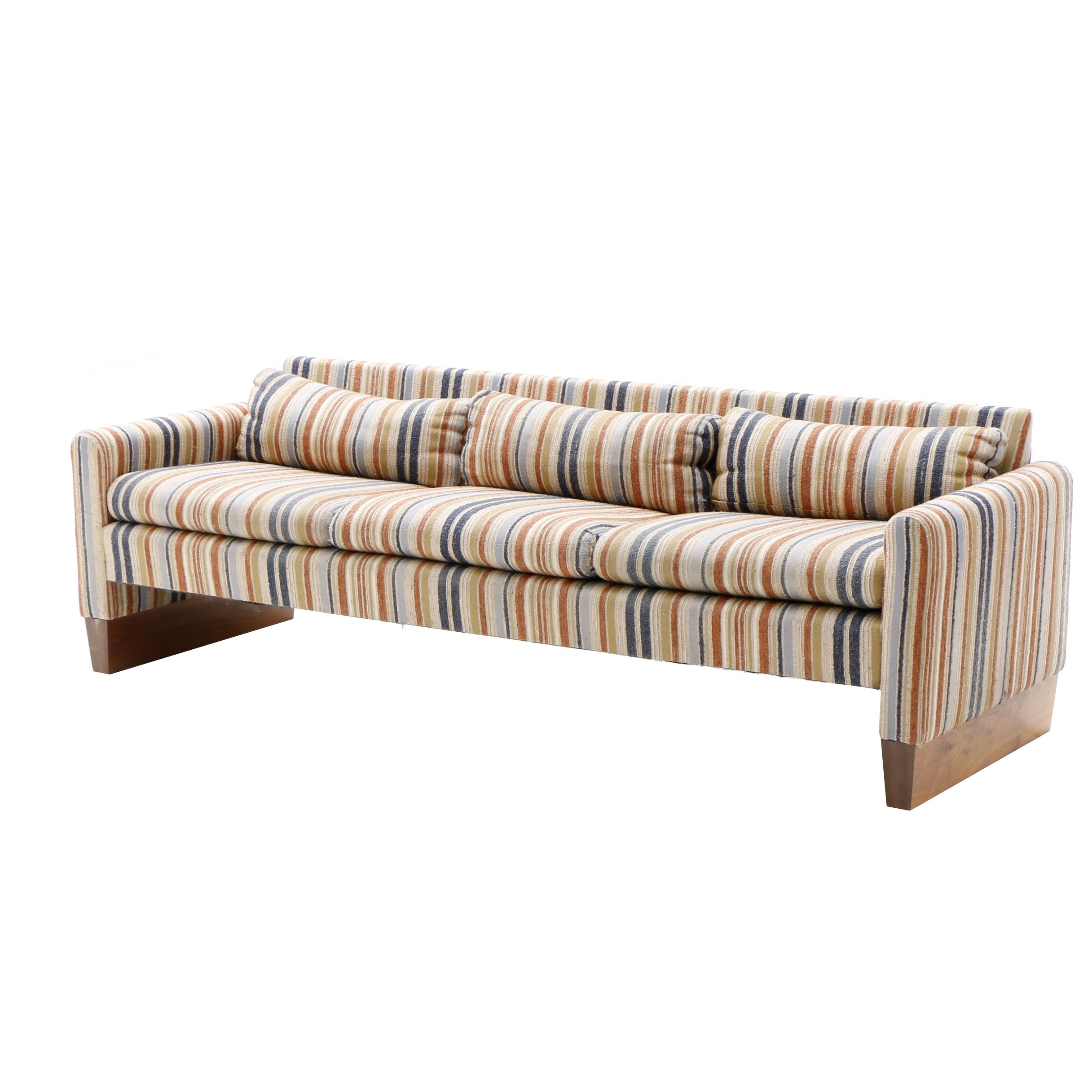 Mid Century Striped Sofa