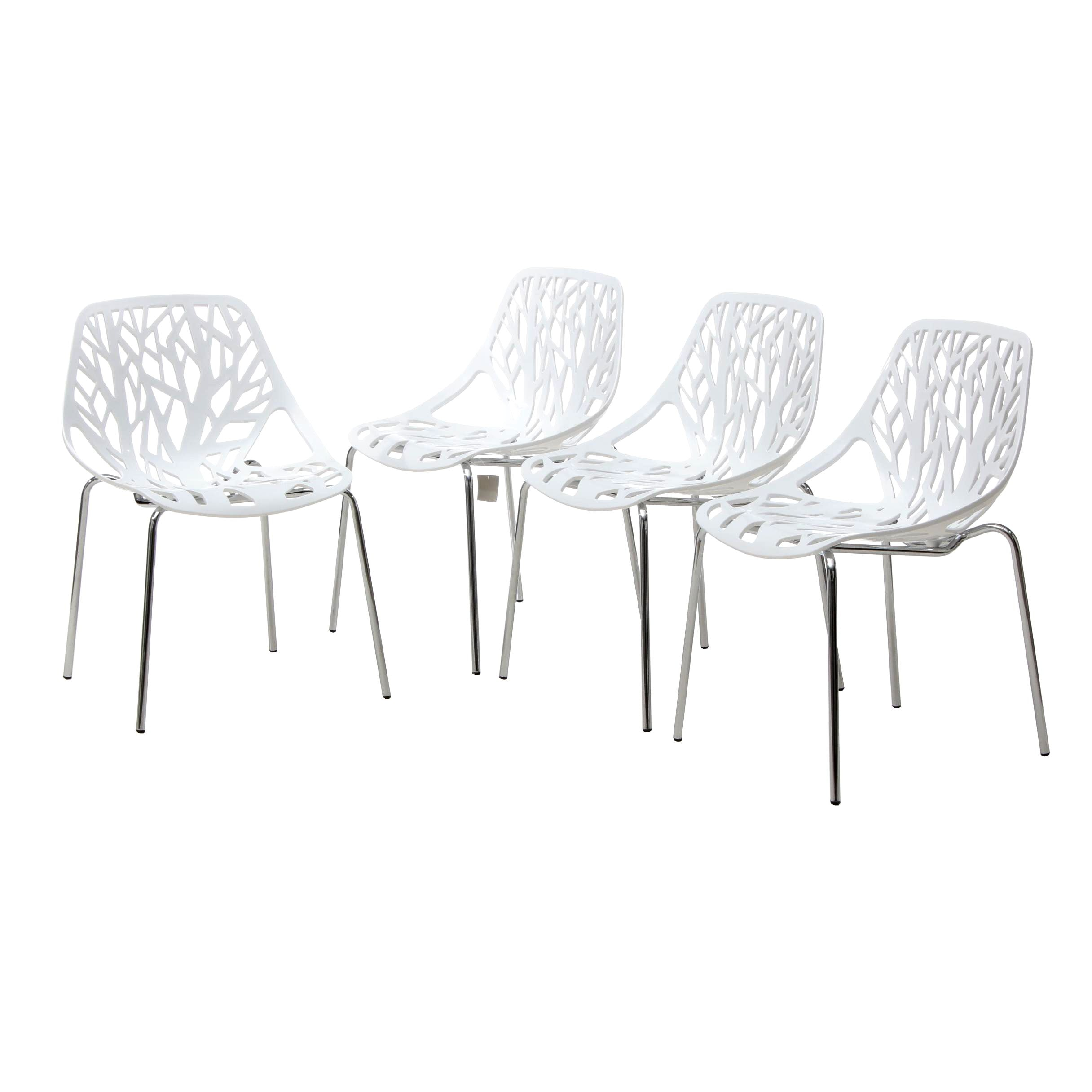 "Modernist ""Stencil"" side Chairs by Modway"