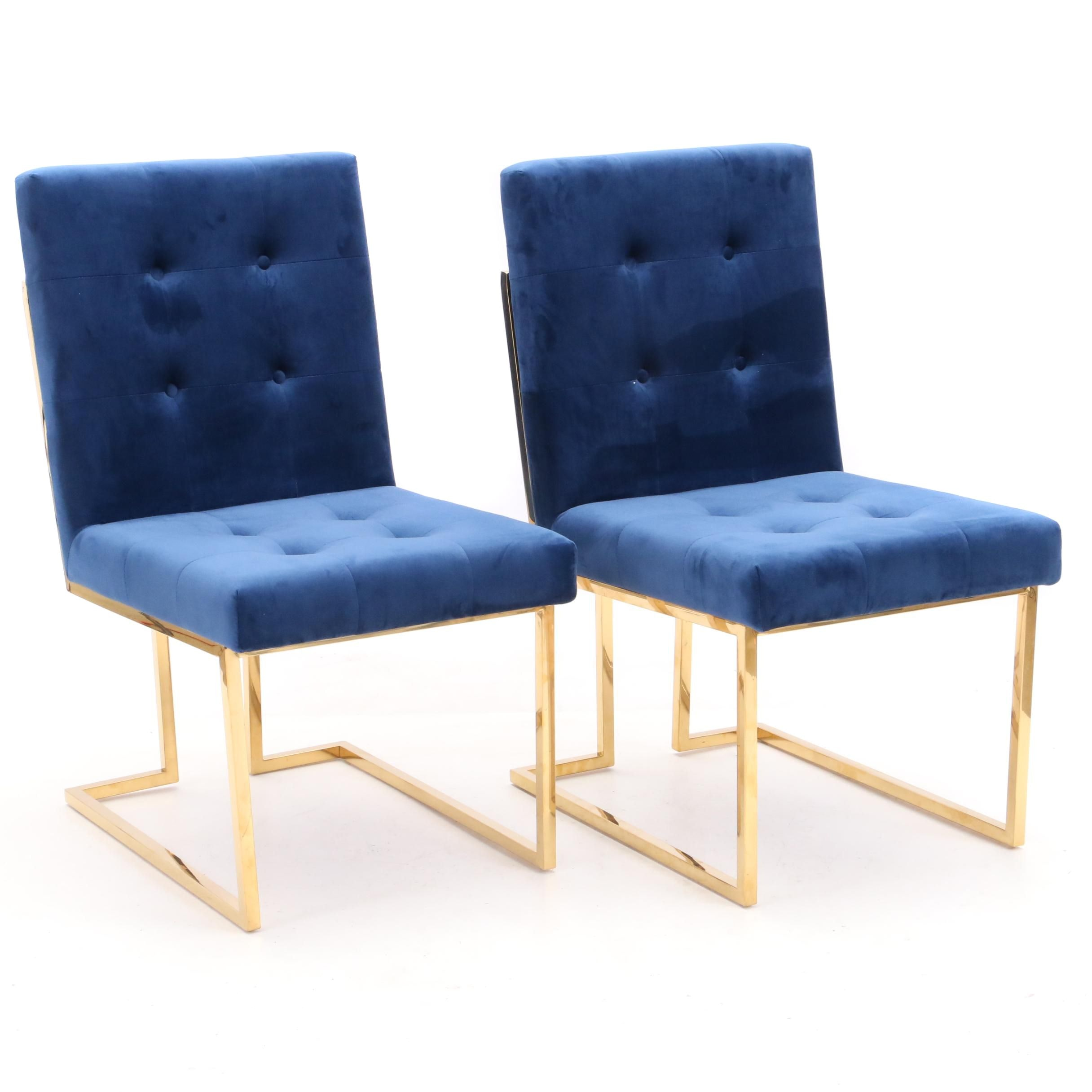 """Upholstered """"Pierre"""" Chairs by Meridian"""