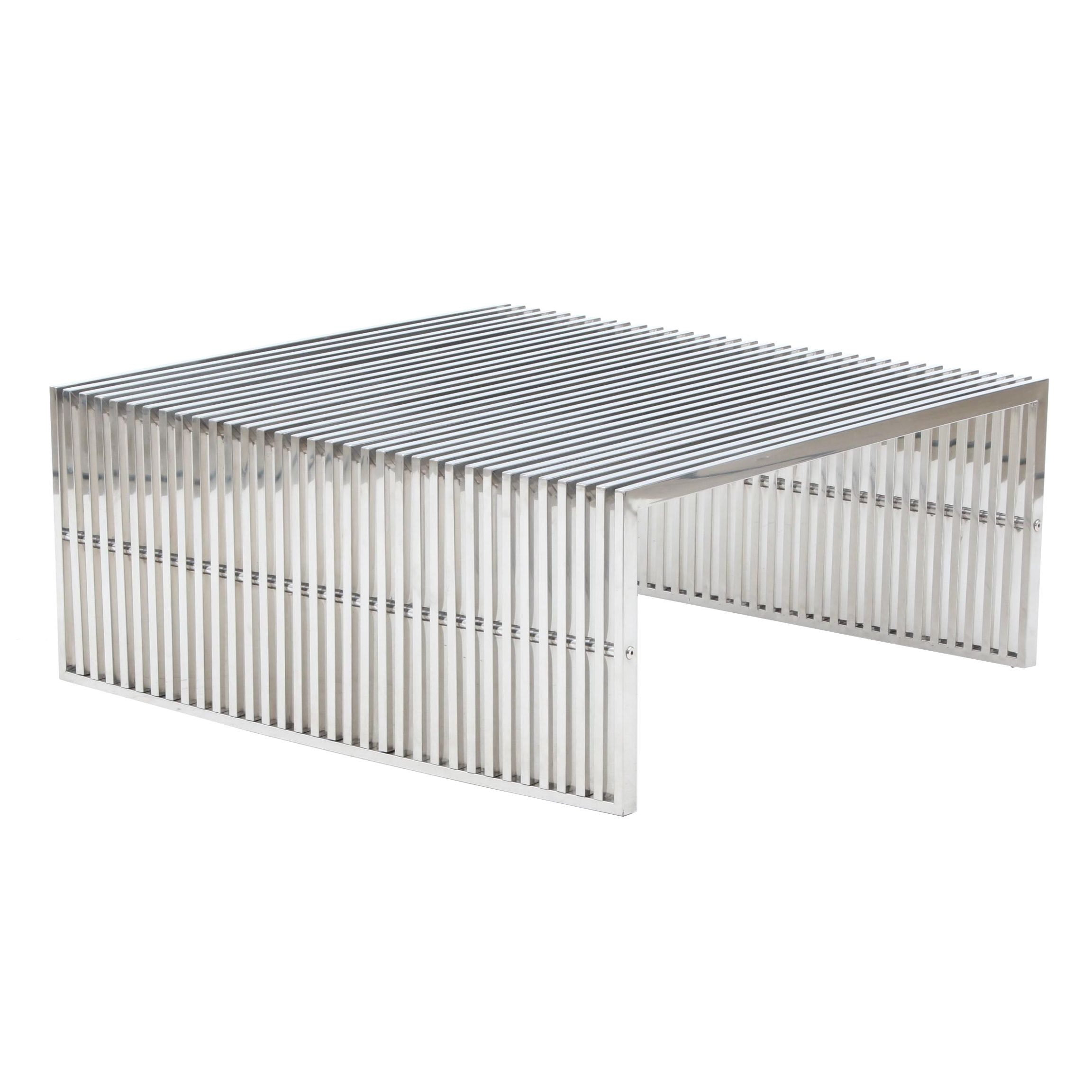 """Chromed """"Gridiron"""" Coffee Table by Modway"""