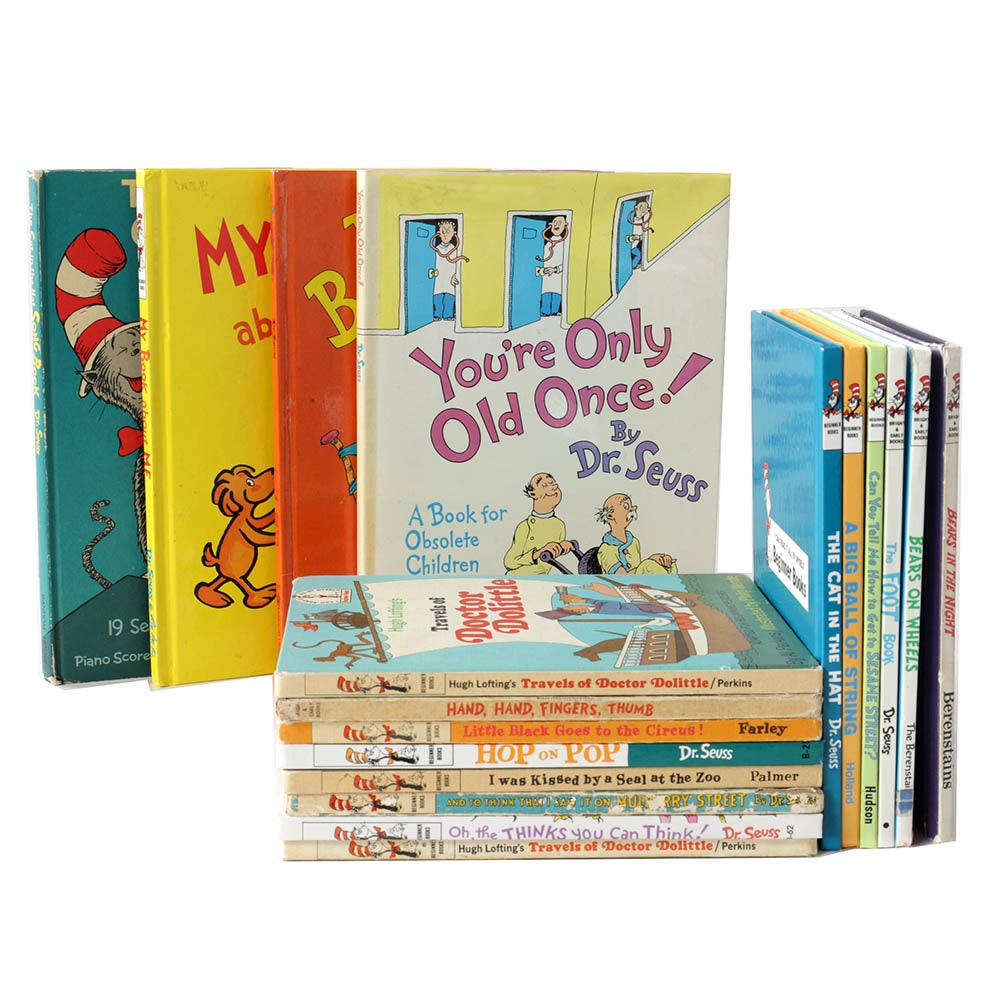 """Dr. Seuss Books including 1967 """"The Cat in the Hat Song Book"""""""