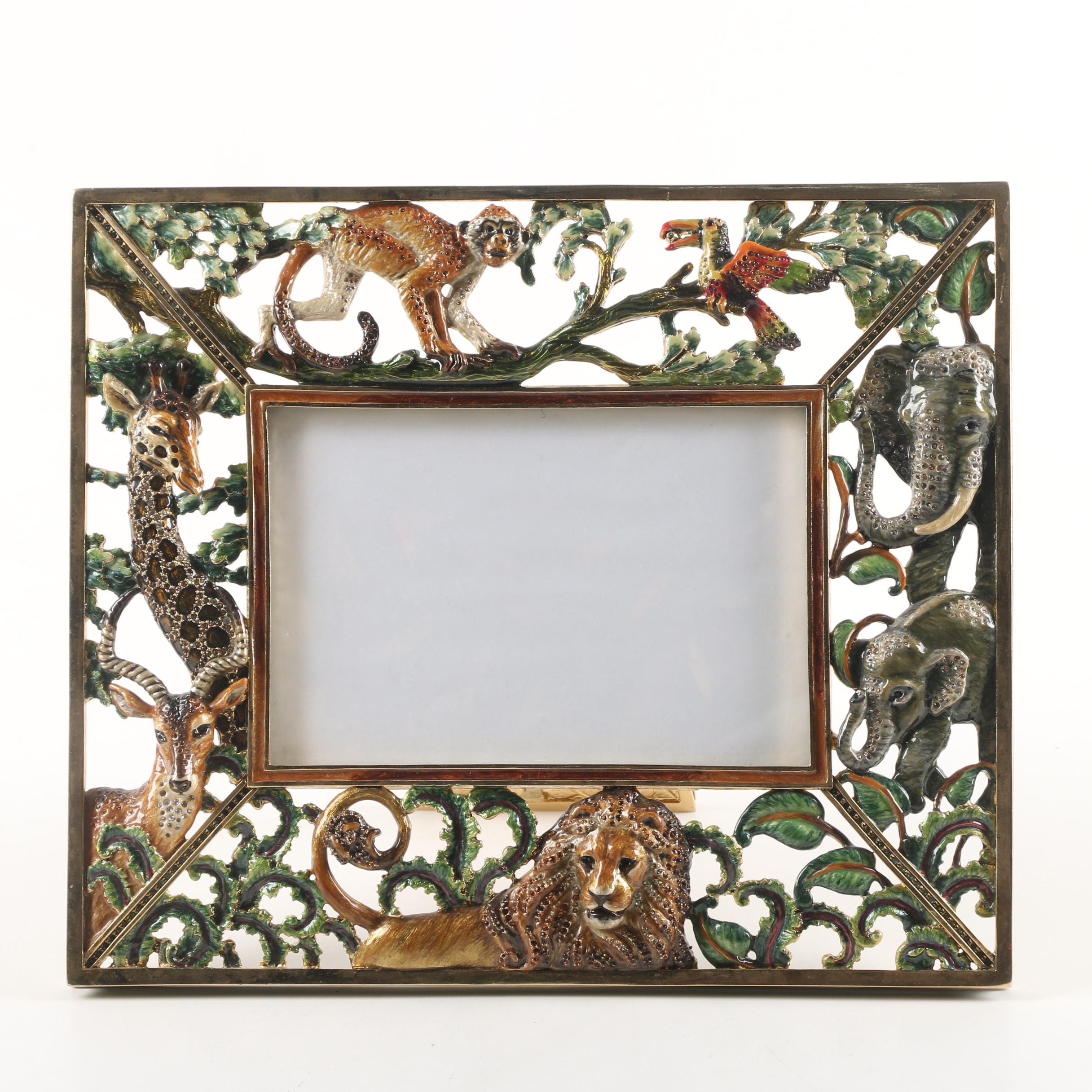 Jay Strongwater Jungle Frame Limited Edition Enameled Picture Frame