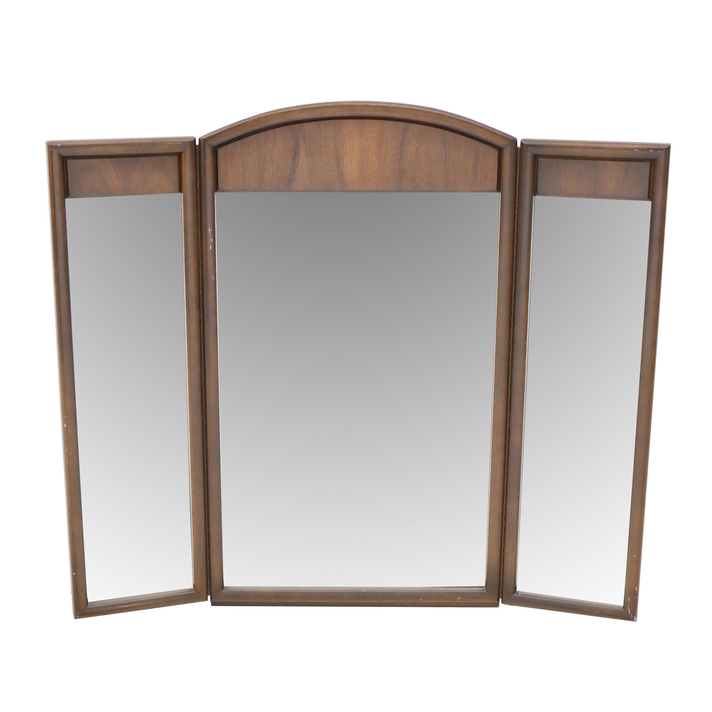 Three Panel Mid-Century Floor Mirror