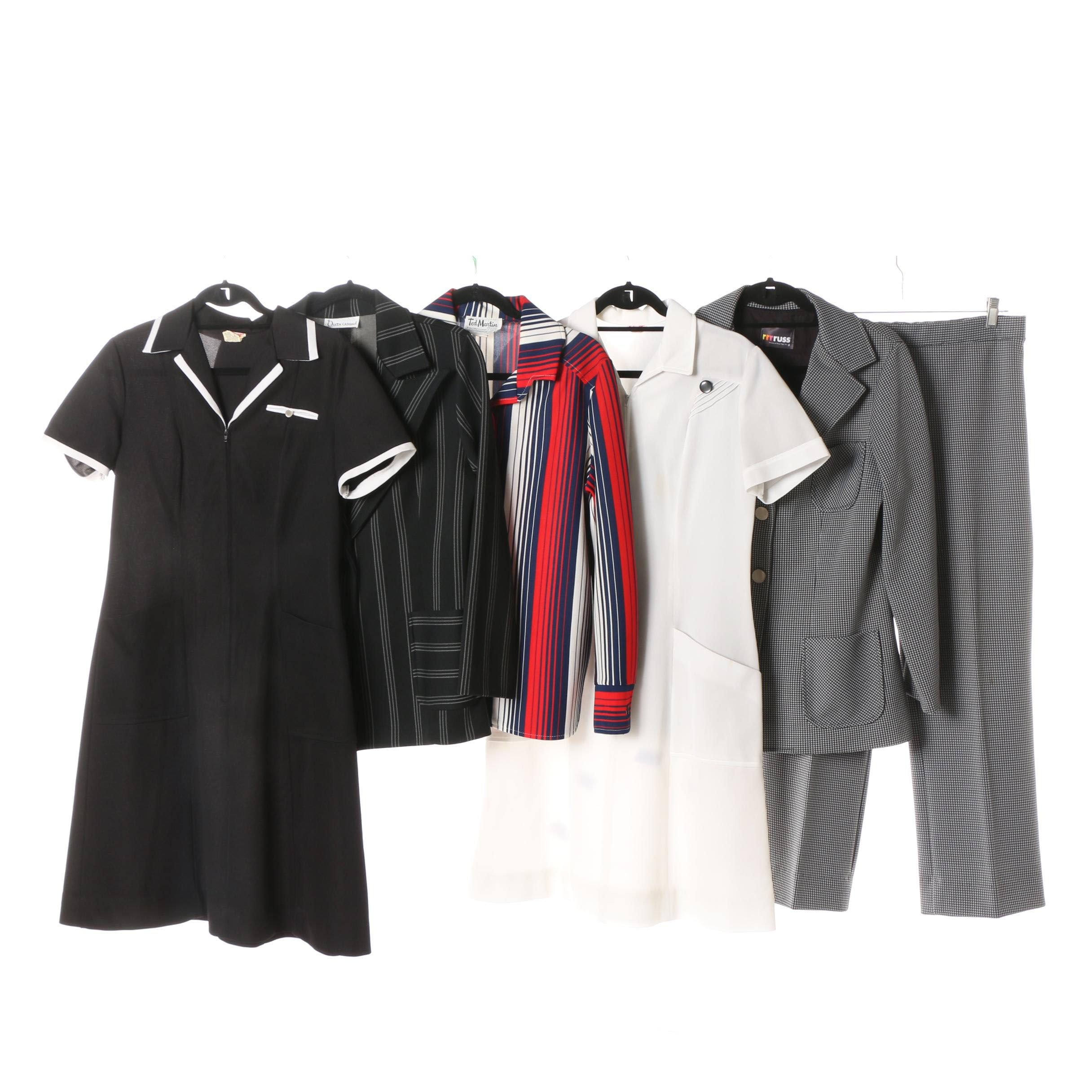 Women's Vintage Pantsuit, Dresses and Jackets including Russ and Ted Martin