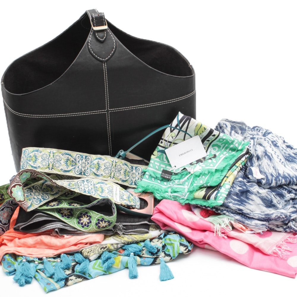 Scarves, Belts and Tote Featuring Emilio Pucci and More