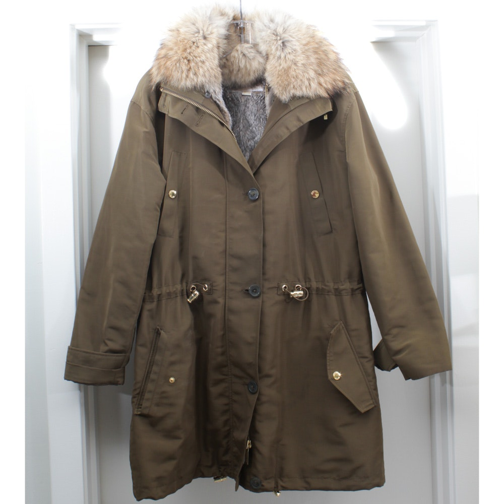 MICHAEL Michael Kors Rabbit Fur Lined Coat