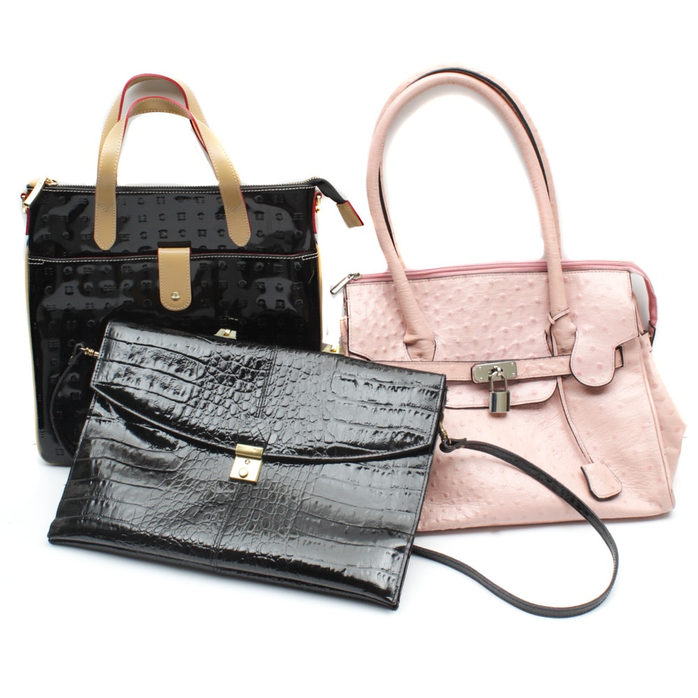 Handbags Featuring Cleo & Patek and Arcadia