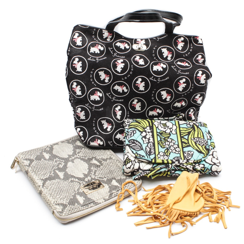 Handbags, Tablet Covers and Accessory Bags Featuring Lulu Guiness