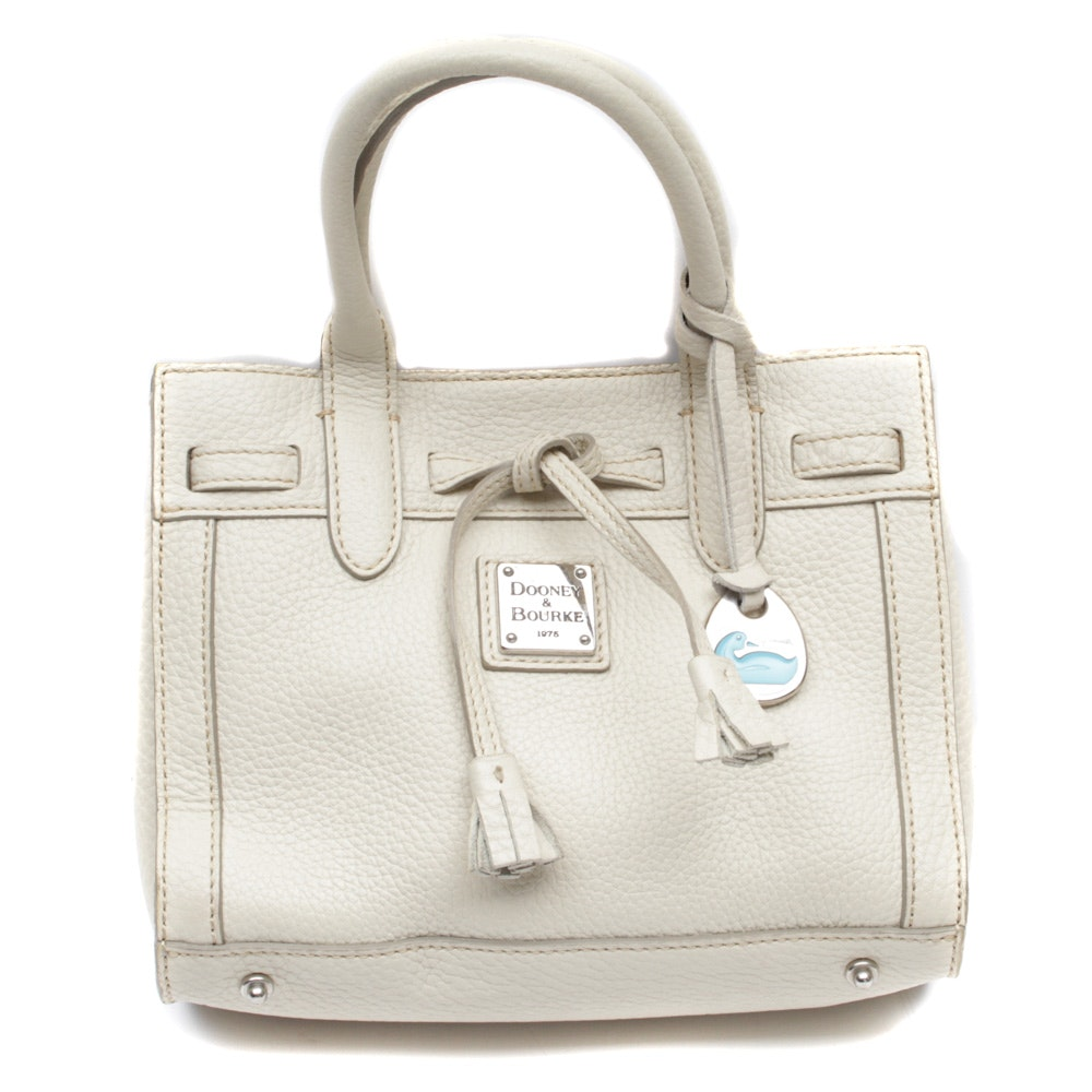 Dooney & Bourke Off-White Pebbled Leather Handbag