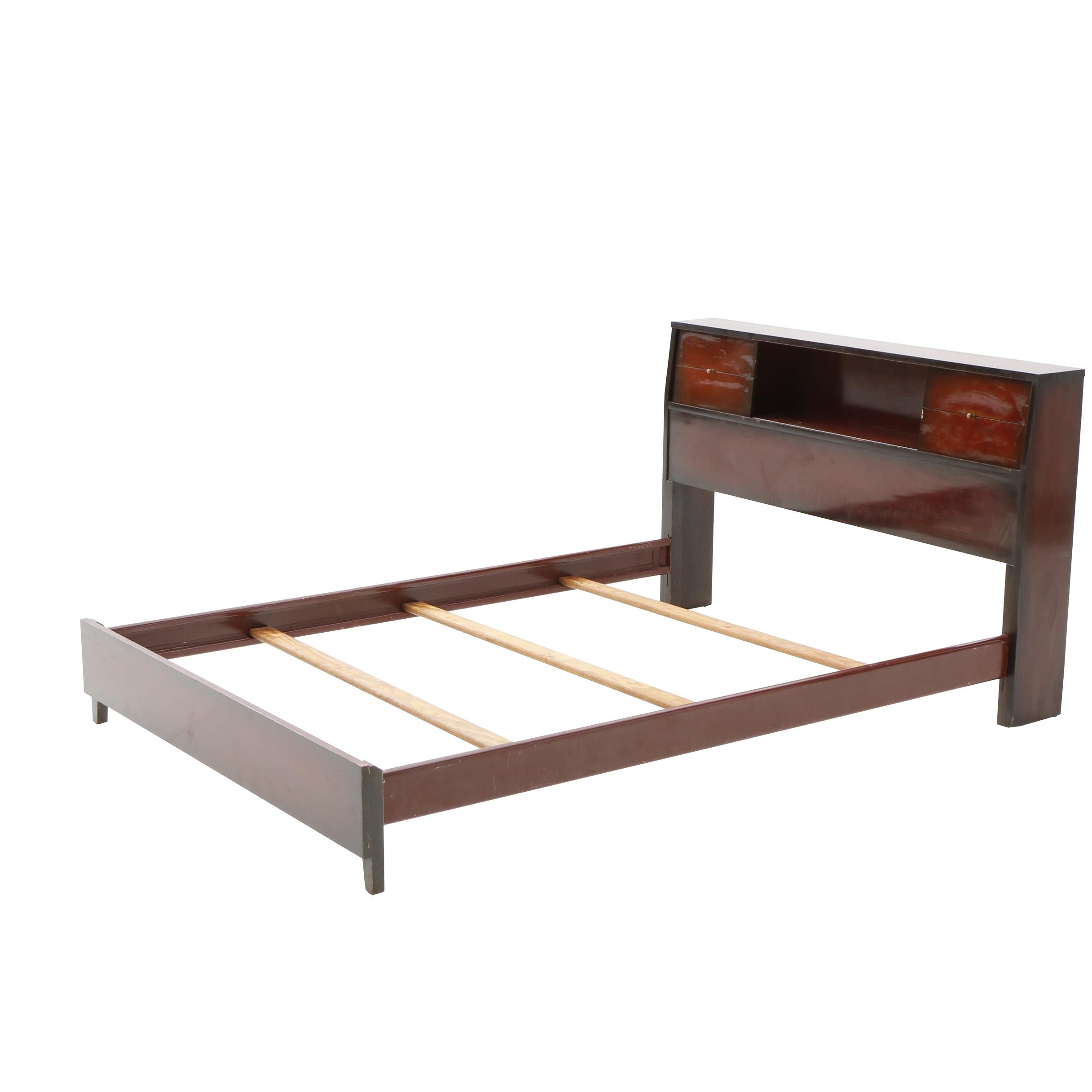 Vintage Mahogany Full Bed Frame by Dixie