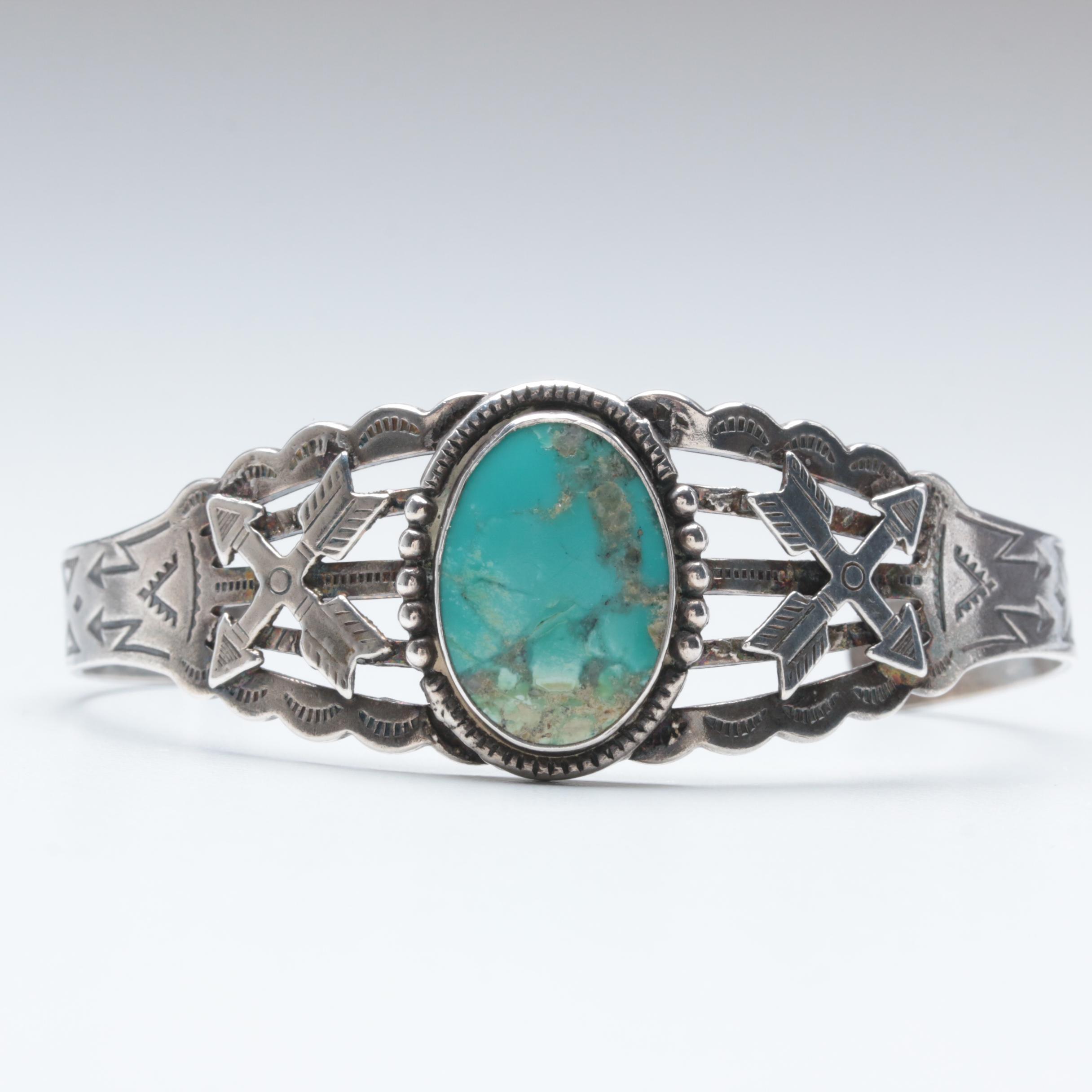 Southwestern Style Turquoise Cuff Bracelet