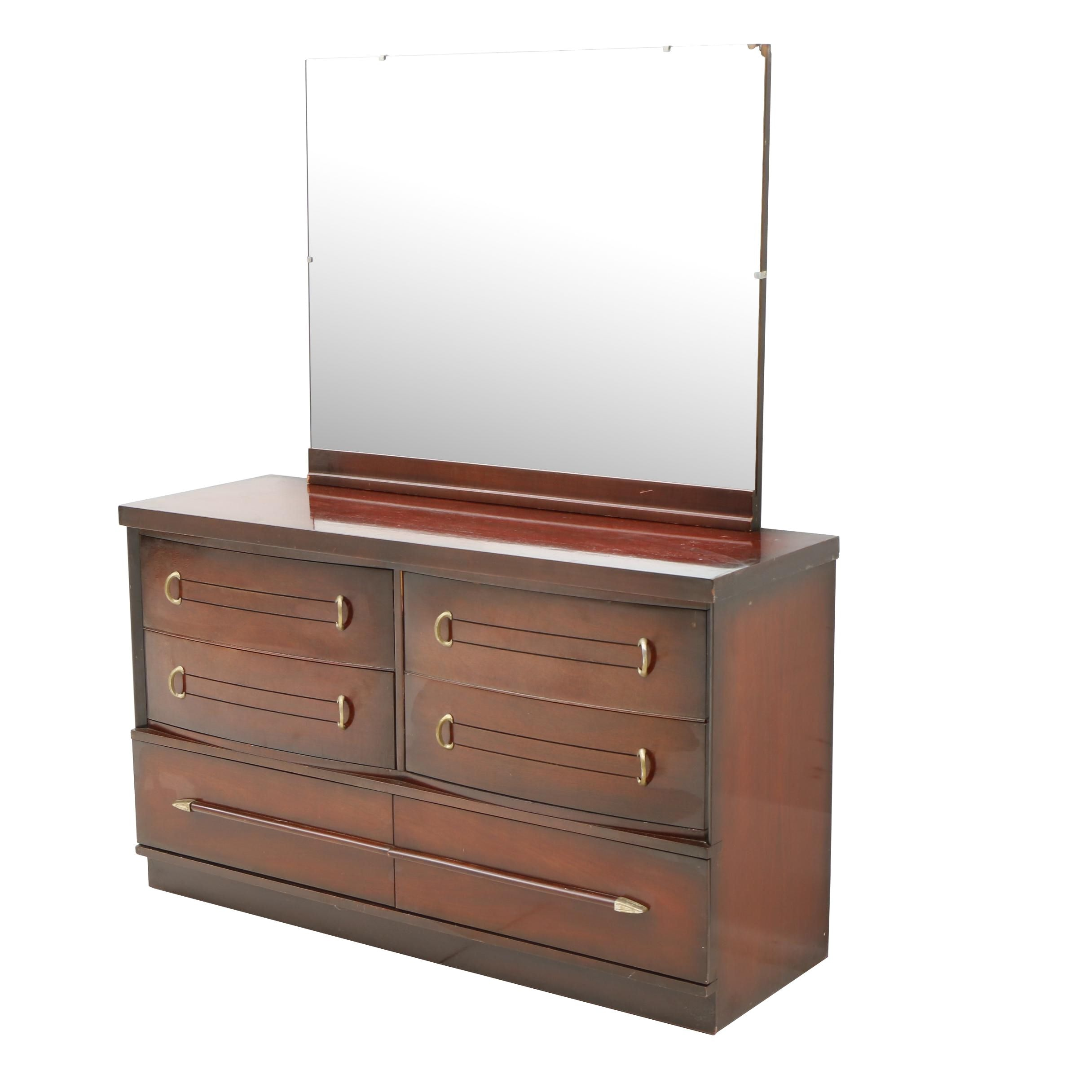 Dixie Mahogany Chest of Drawers with Mirror