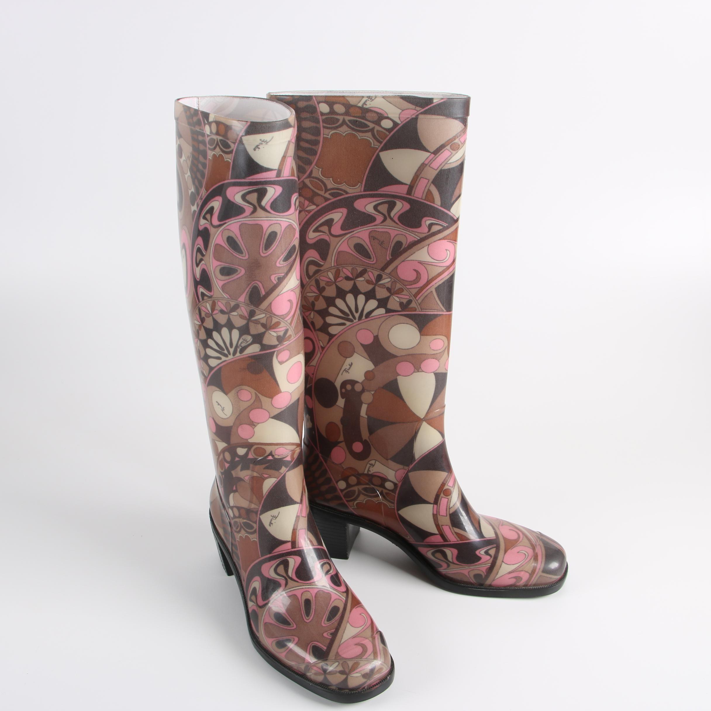 Women's Emilio Pucci Rain Boots