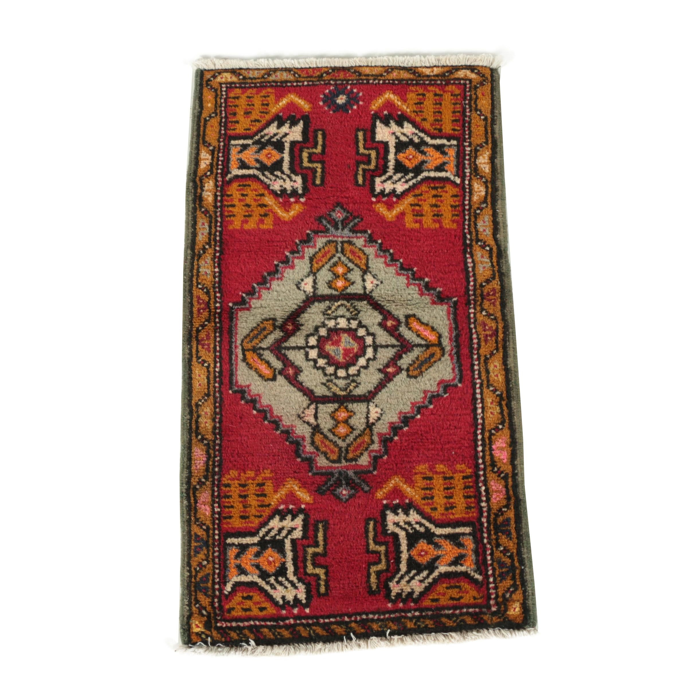 Hand-Knotted Anatolian Wool Accent Rug