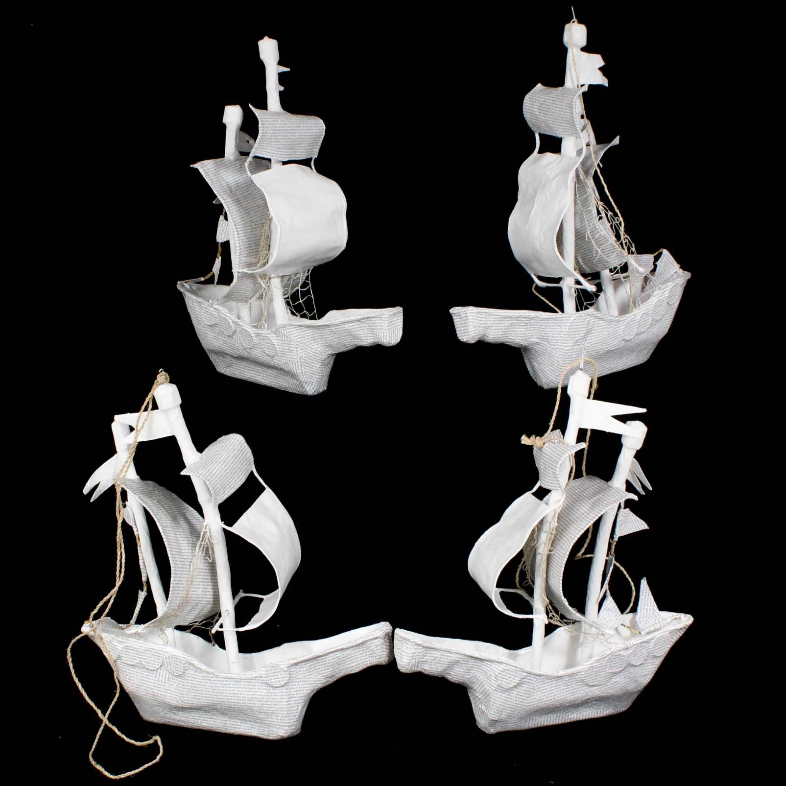 Papier Mache Ship Models