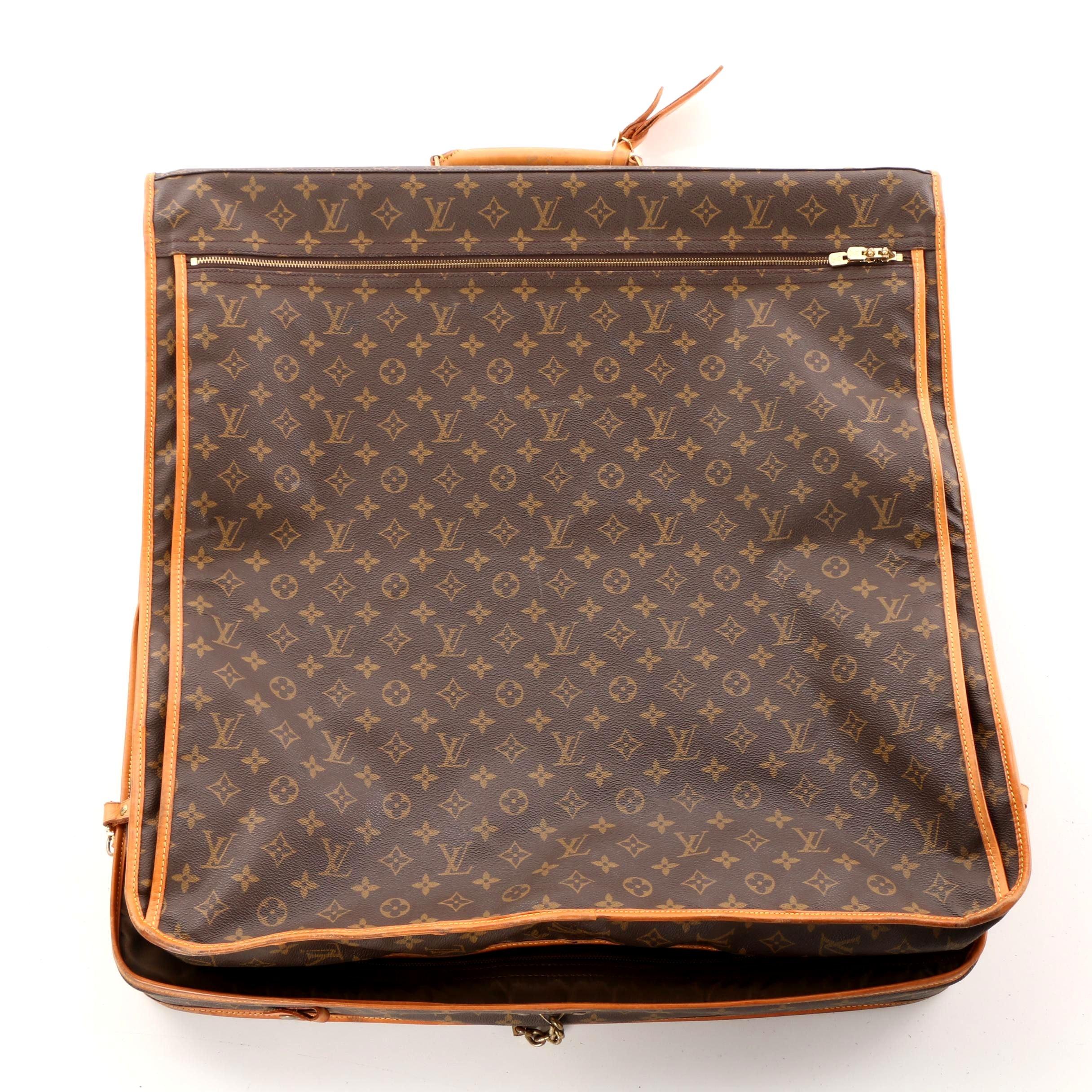 1991 Louis Vuitton Paris Malletier Monogram Canvas Garment Bag