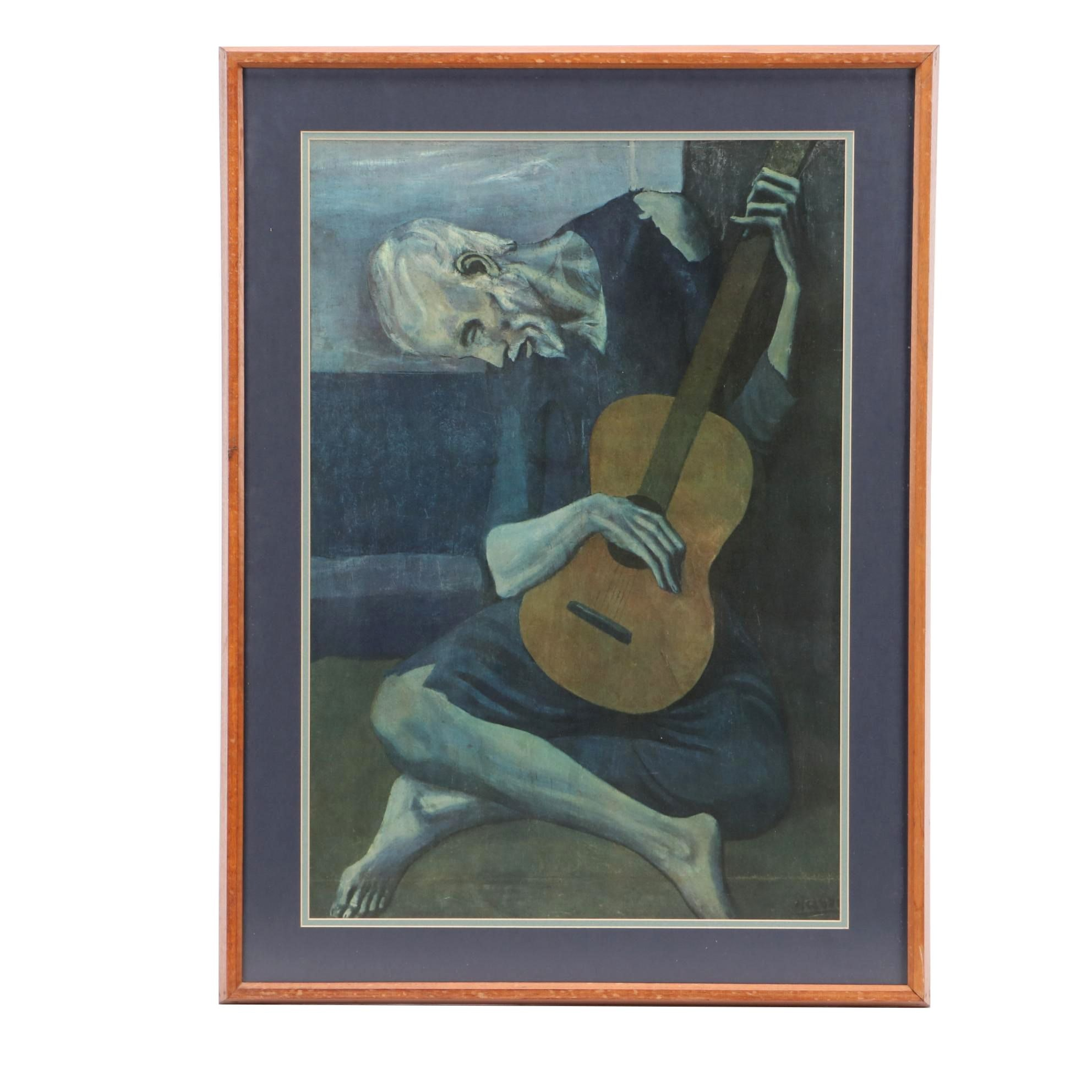 "Photomechanical Reproduction after Pablo Picasso ""The Old Guitarist"""