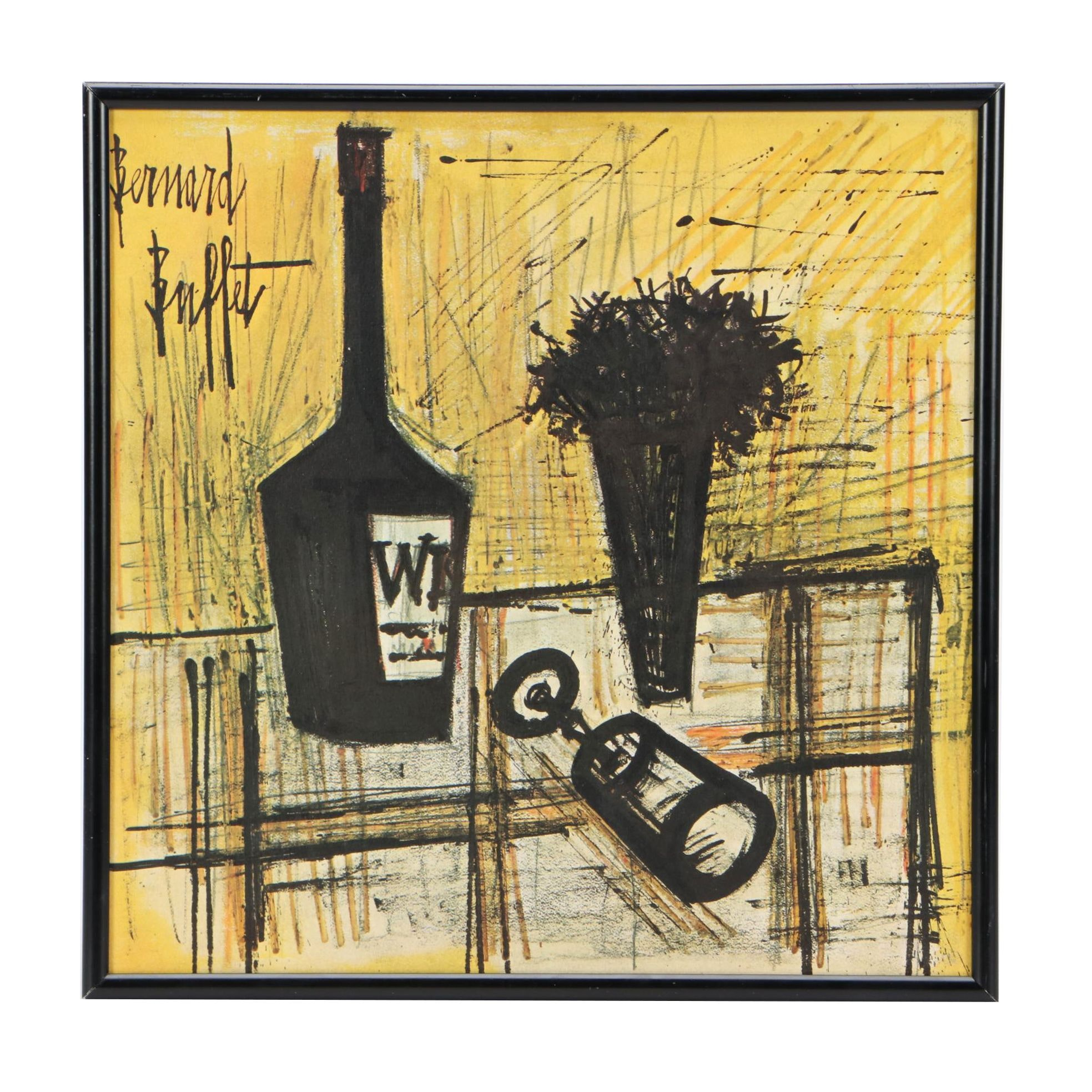 Framed Ella Fitzgerald Album Cover Featuring Artwork by Bernard Buffet