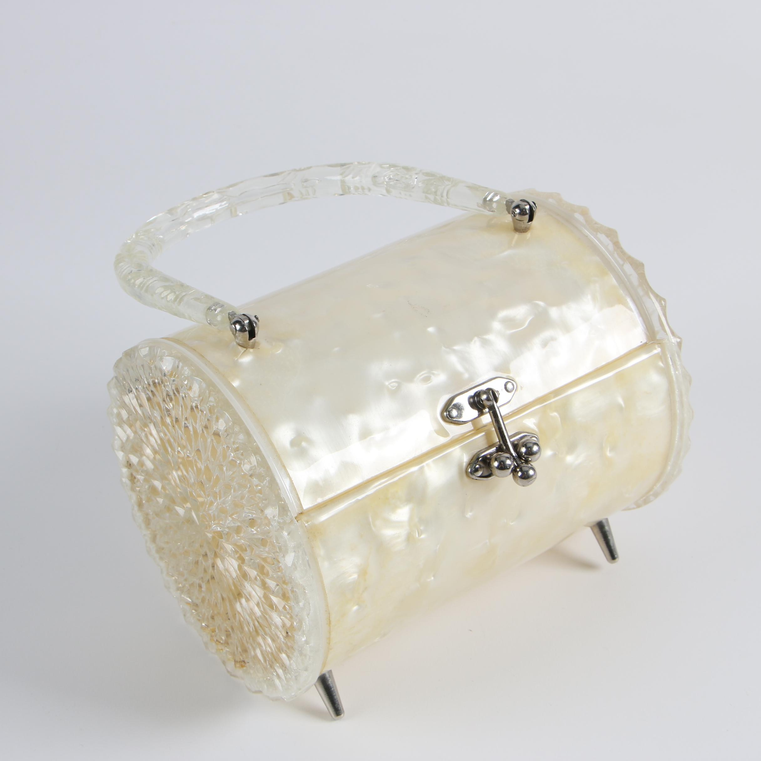 1950s Lucite Footed Box Purse