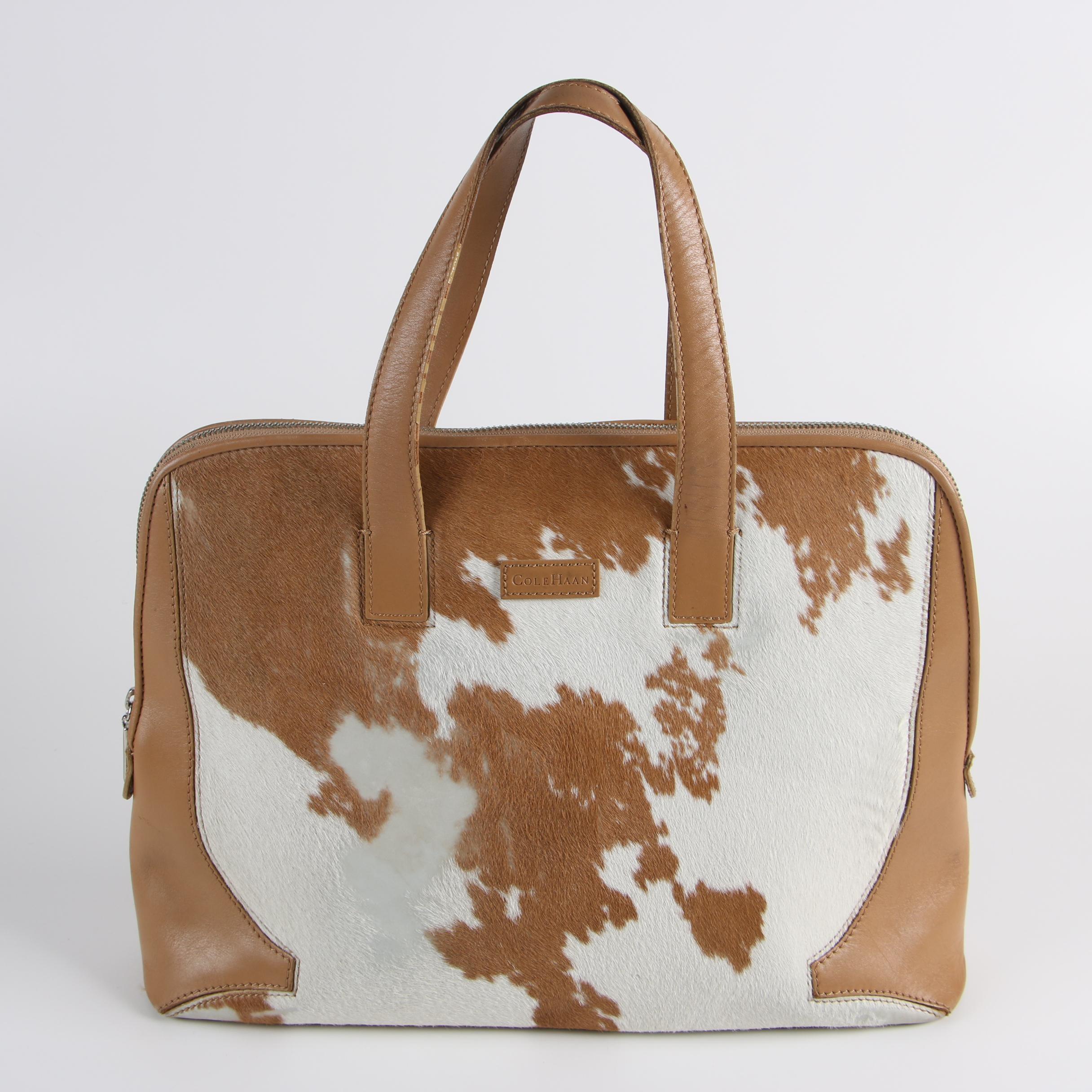 Cole Haan Calf Hair Leather Top Handle Bag