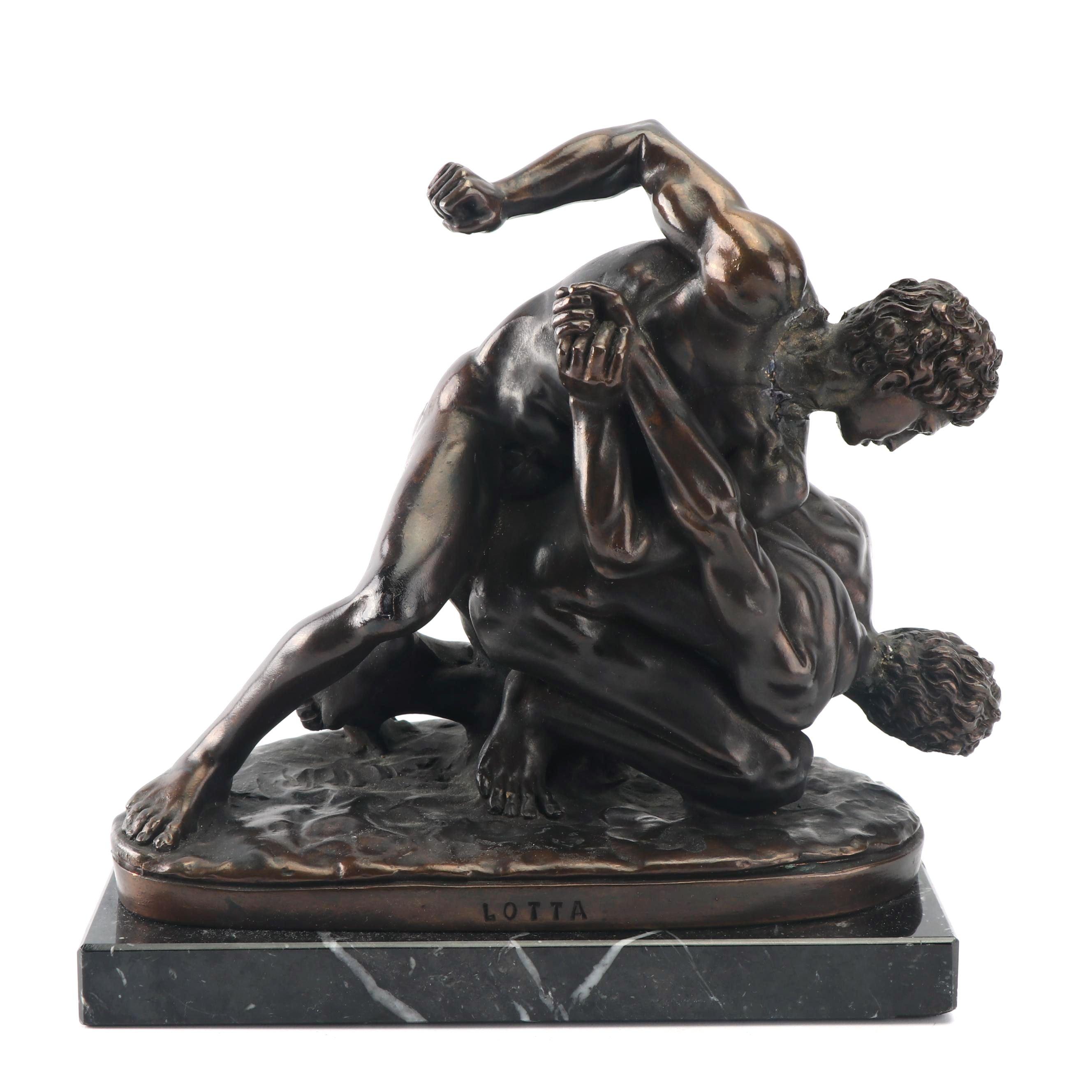 "A. Santini Bronze Sculpture ""Lotta"""