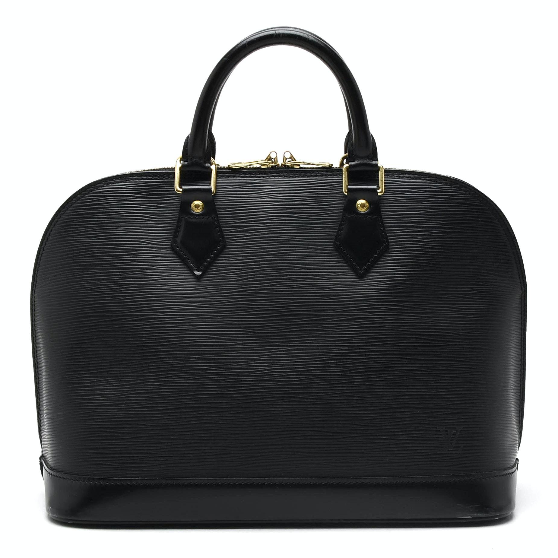 2001 Louis Vuitton Alma PM Black EPI Leather Handbag
