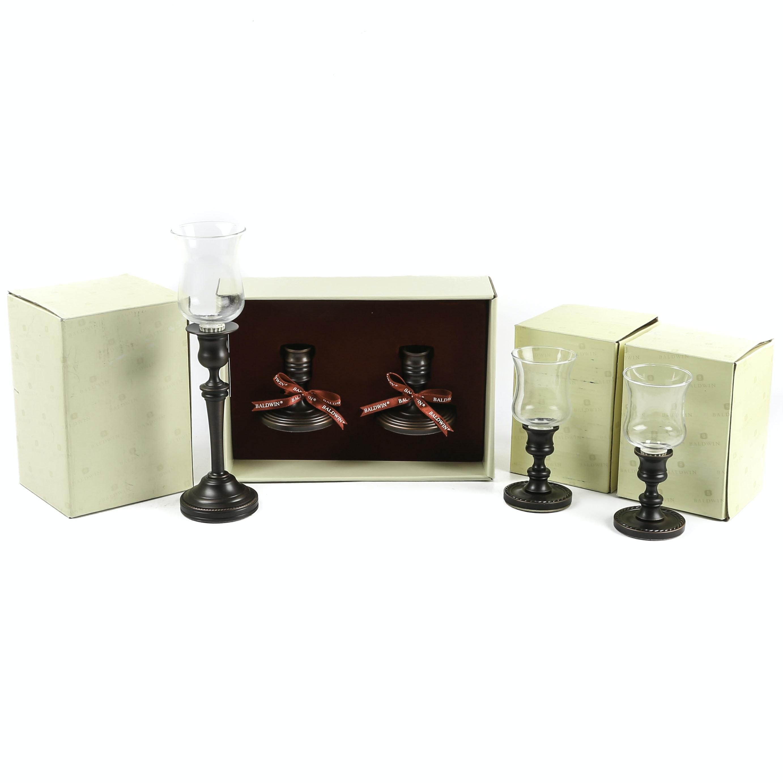 "Baldwin ""Venetian Bronze"" Candlestick Collection"
