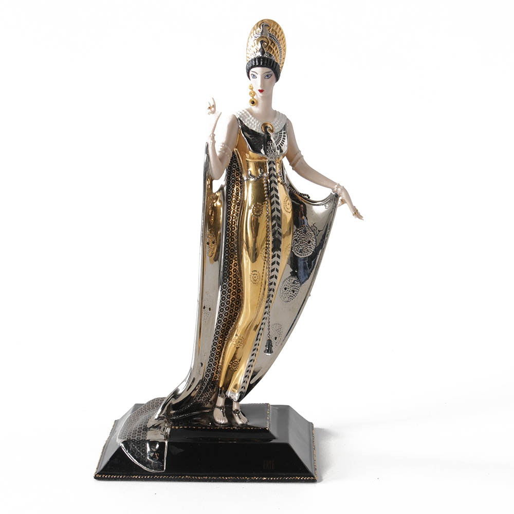 "Franklin Mint Porcelain Sculpture After Erté ""Isis"""