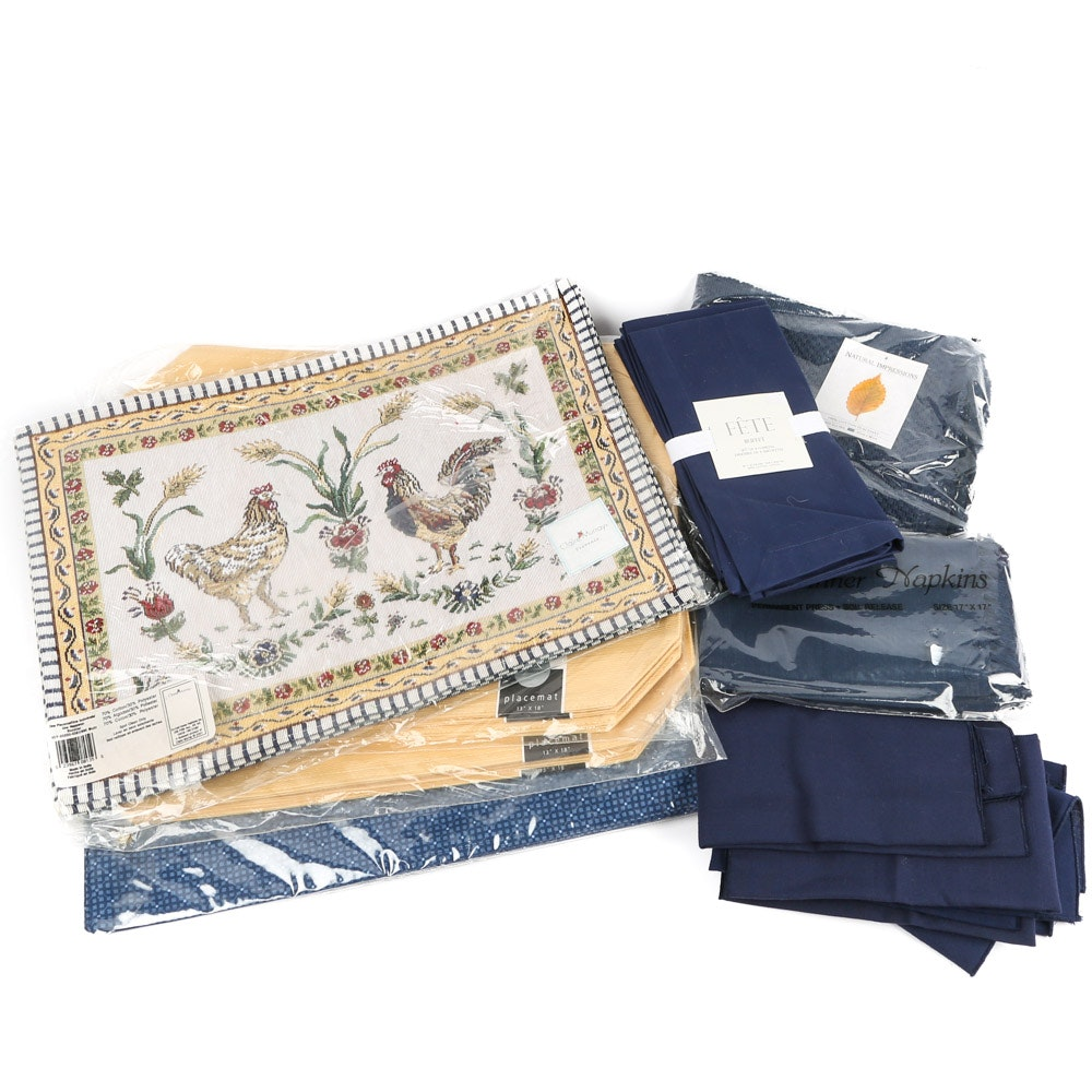 Placemats and Table Napkins Including Claire Murray and Fieldcrest